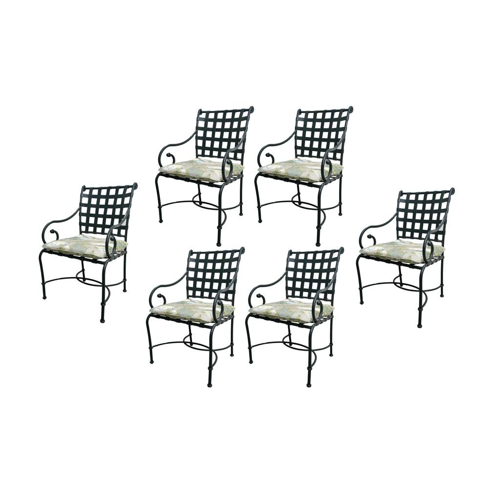 Brown Jordan Metal Patio Dining Chairs
