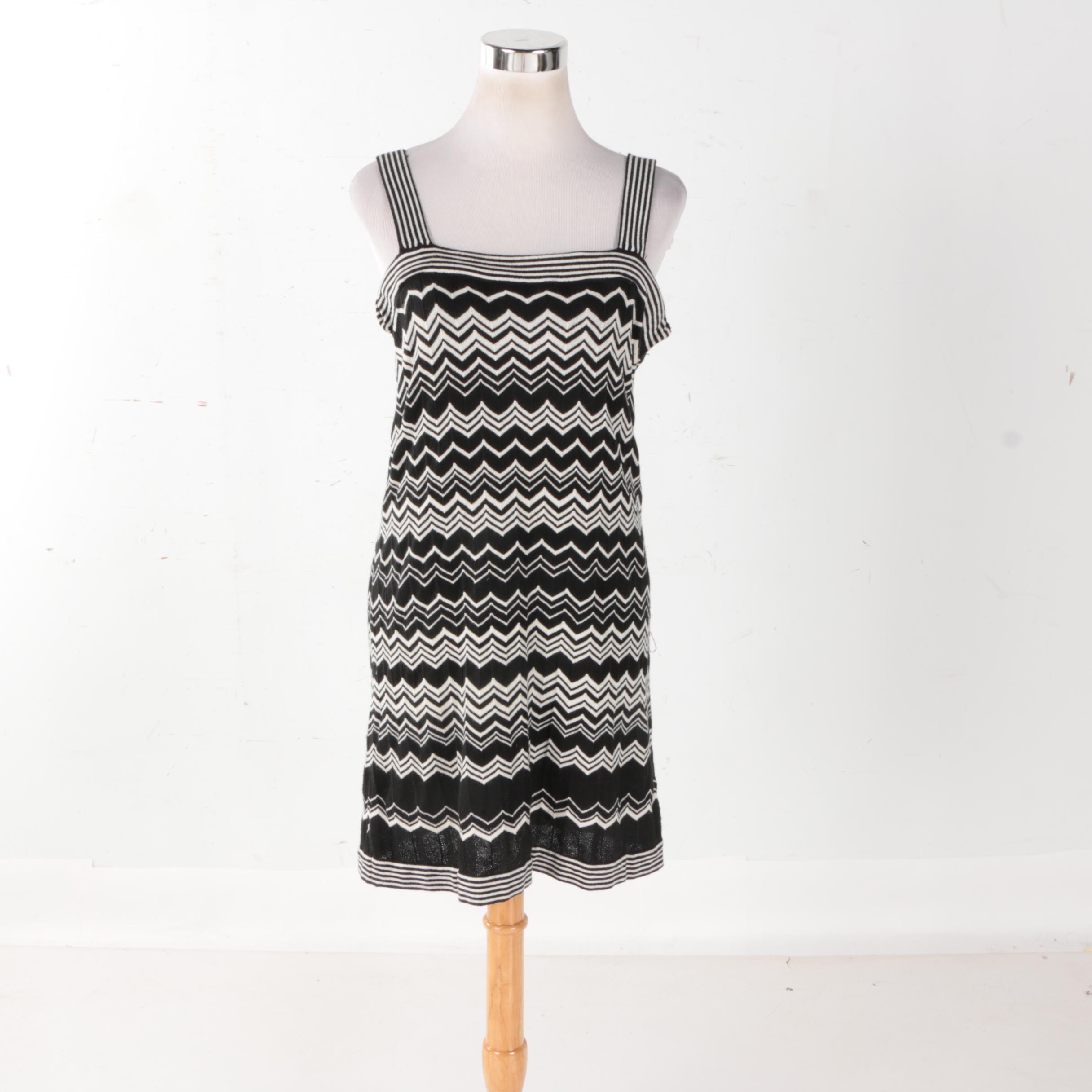 Missoni for Target Black and White Chevron Dress