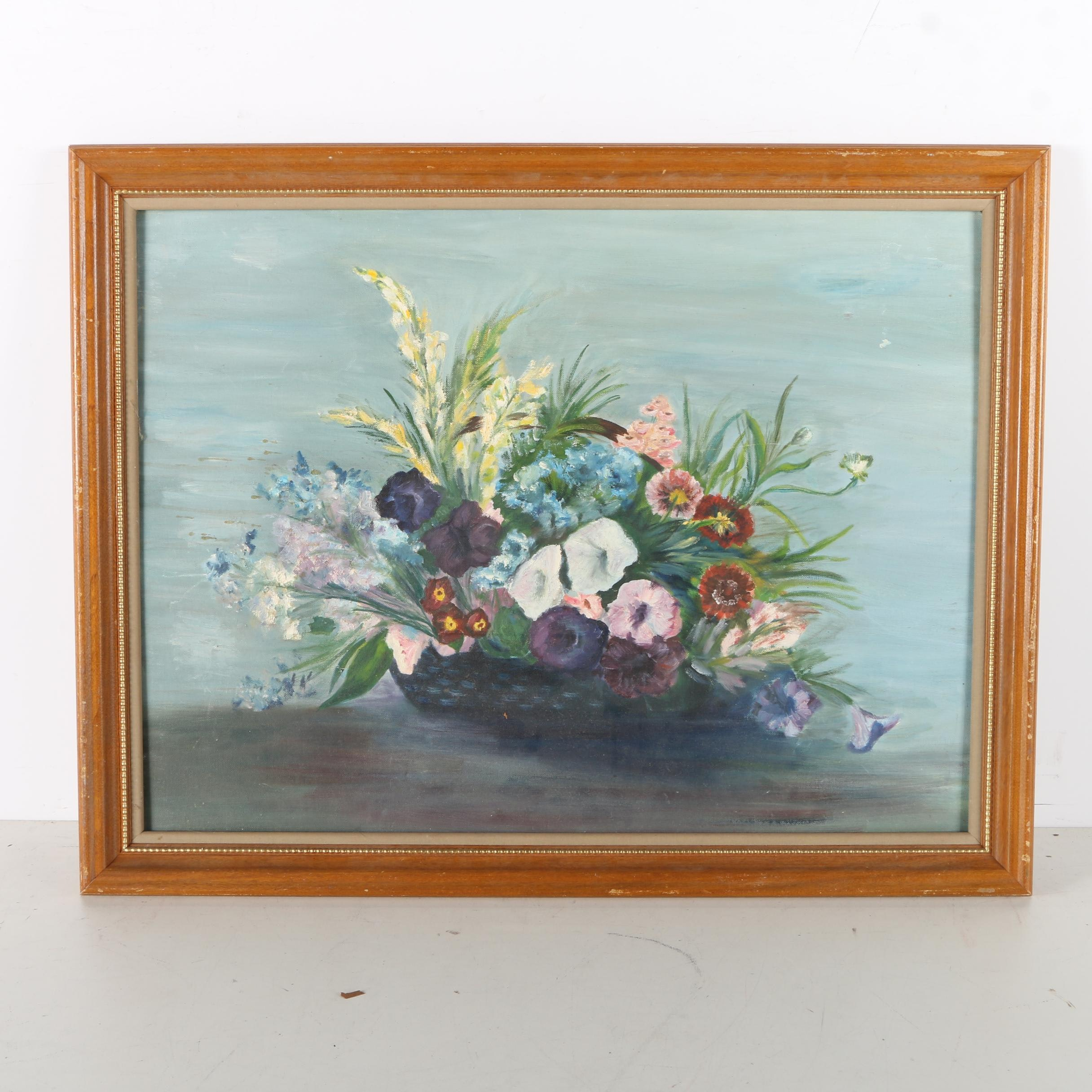 Catherine Martin Oil Painting of a Floral Still Life