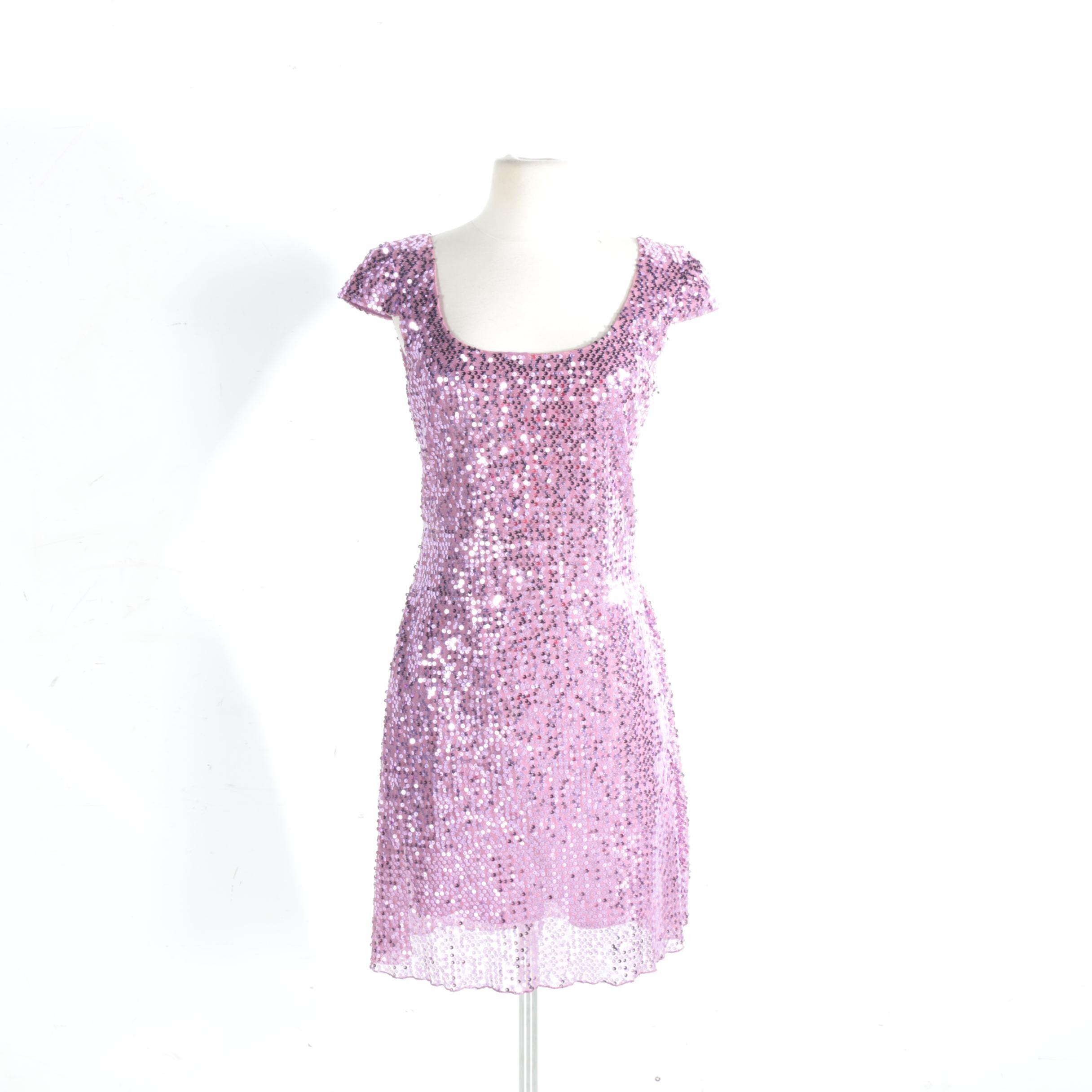 Betsey Johnson Purple Sequin Dress