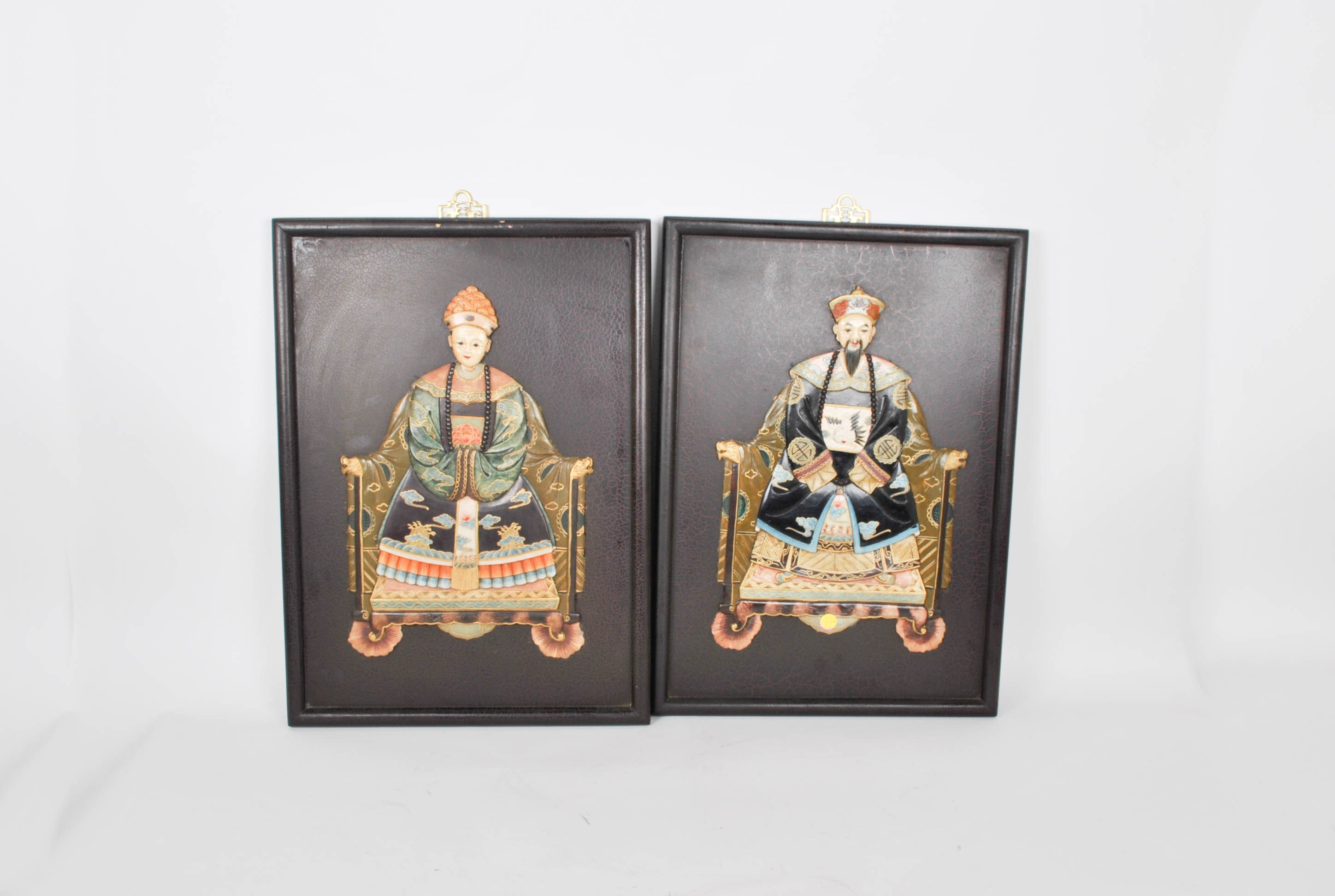 Pair of Decorative Chinese Portraits