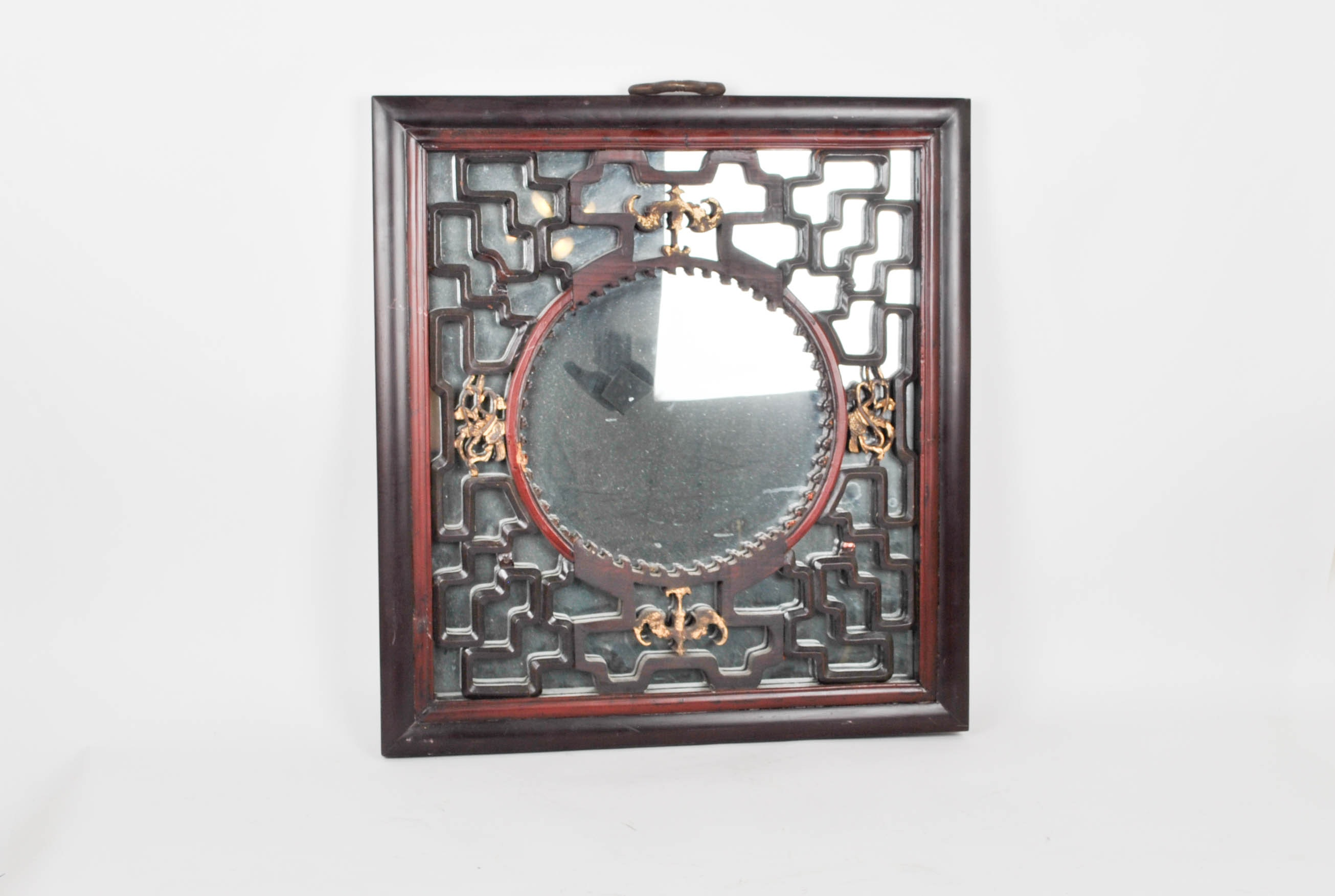 Hand Carved Chinese Framed Mirror