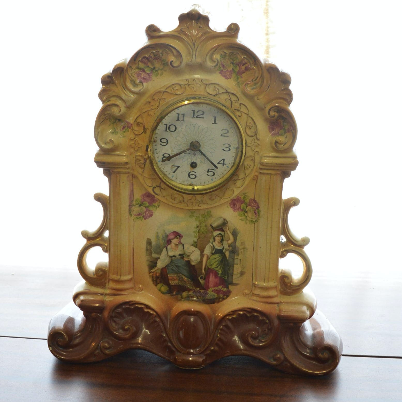 Ceramic General Electric Mantel Clock