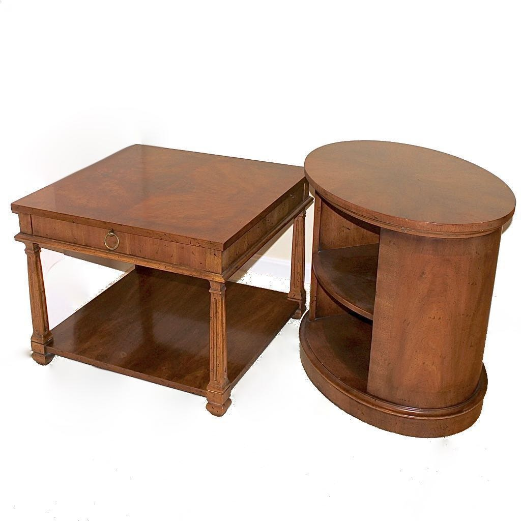 Two Heritage Late 20th Century End Tables