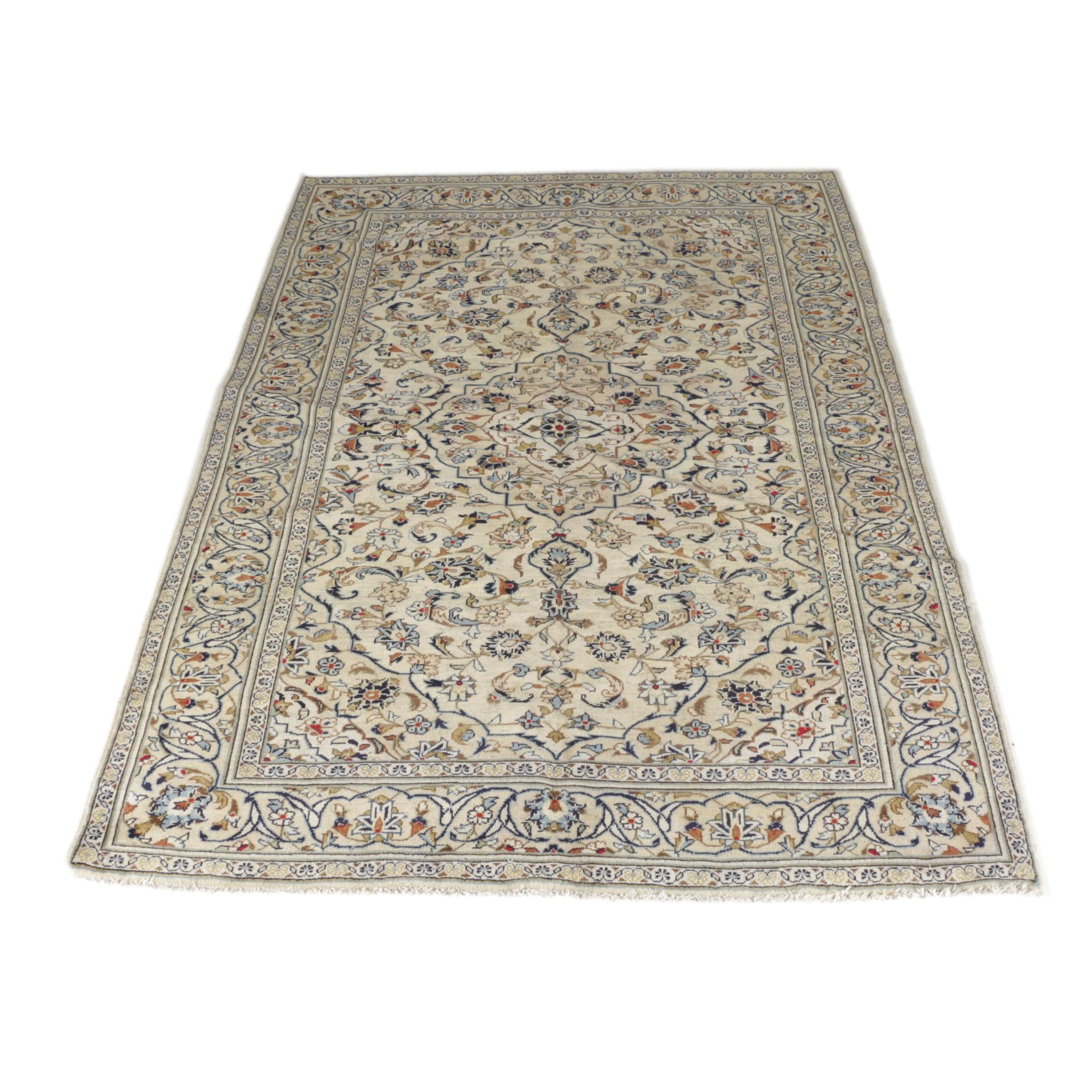Hand-Knotted Kerman Area Rug