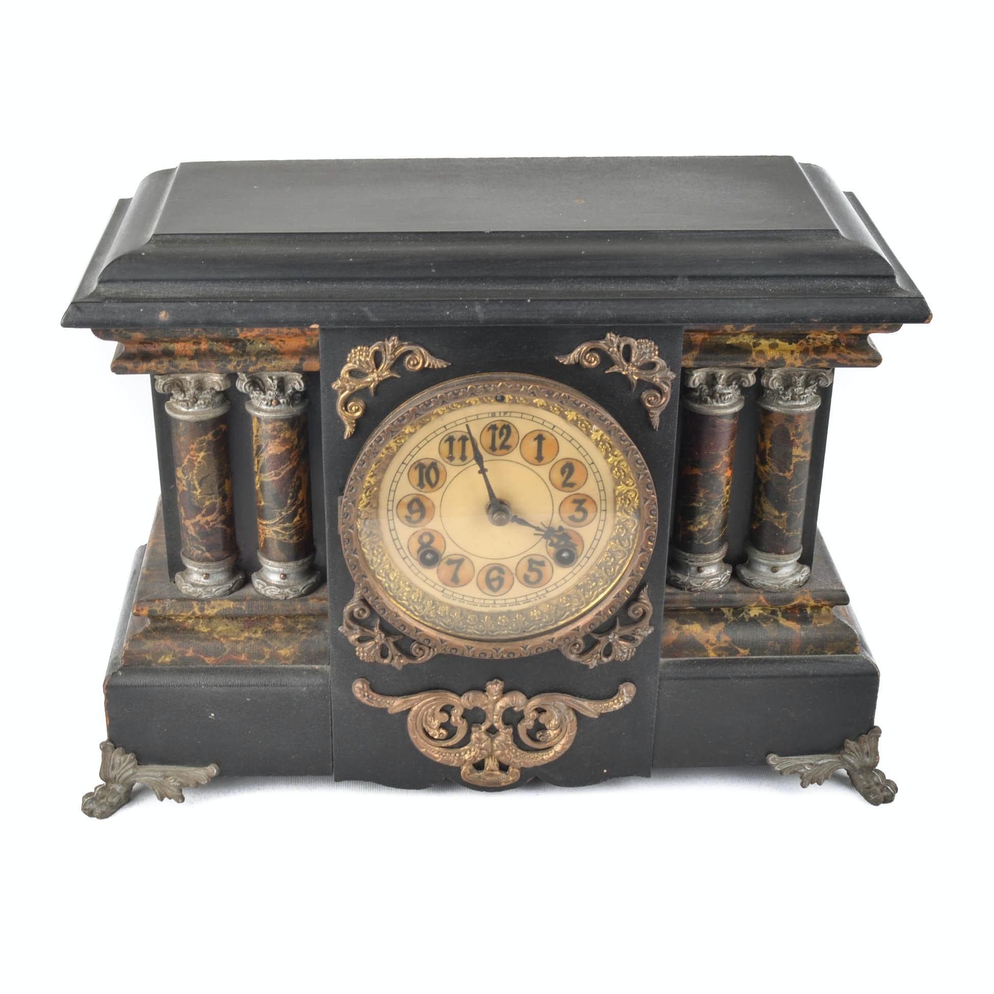 Antique New Haven Mantle Clock