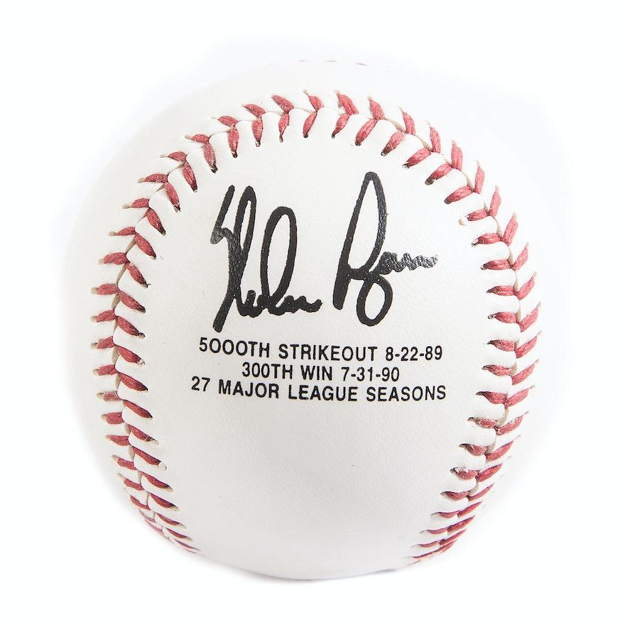 Nolan Ryan Baseball With Facsimile Signature