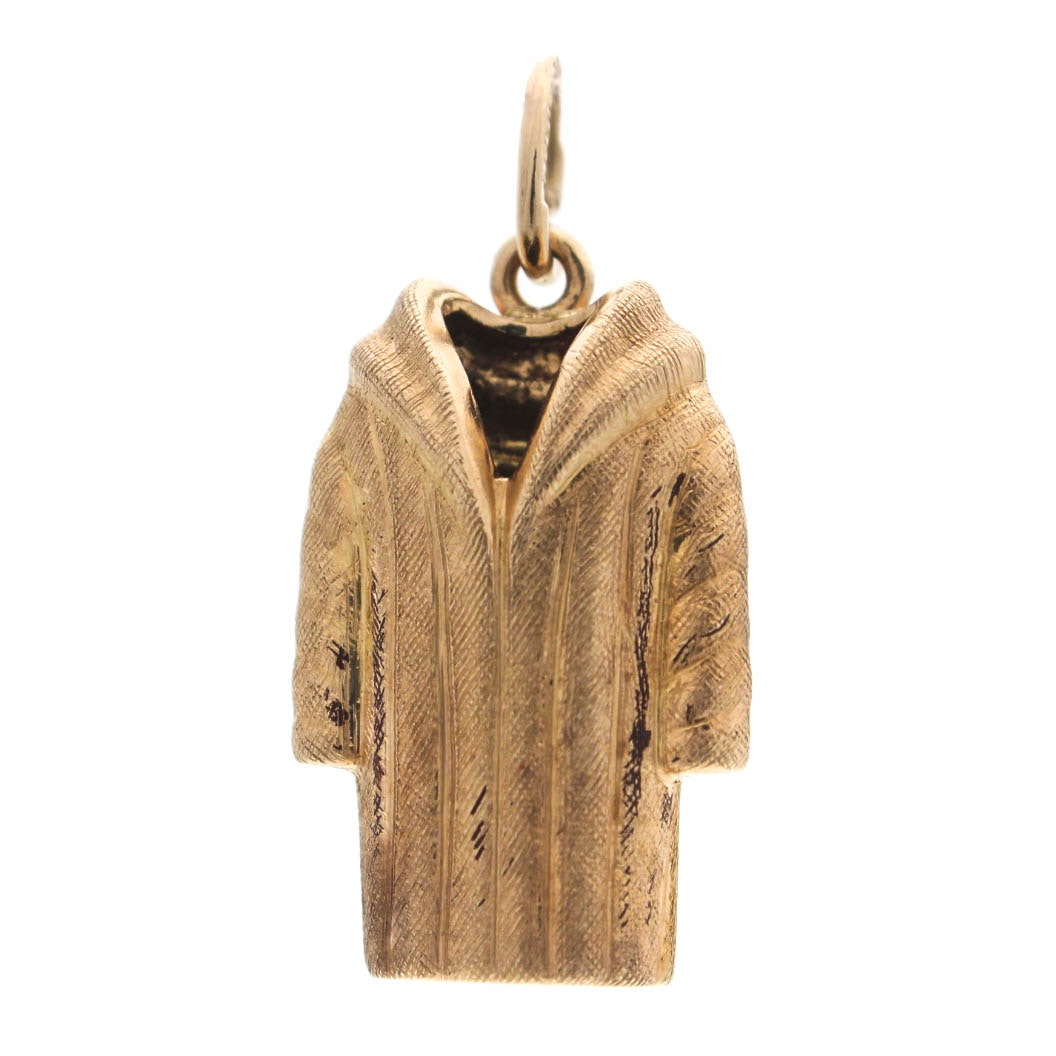 14K Yellow Gold Overcoat Charm