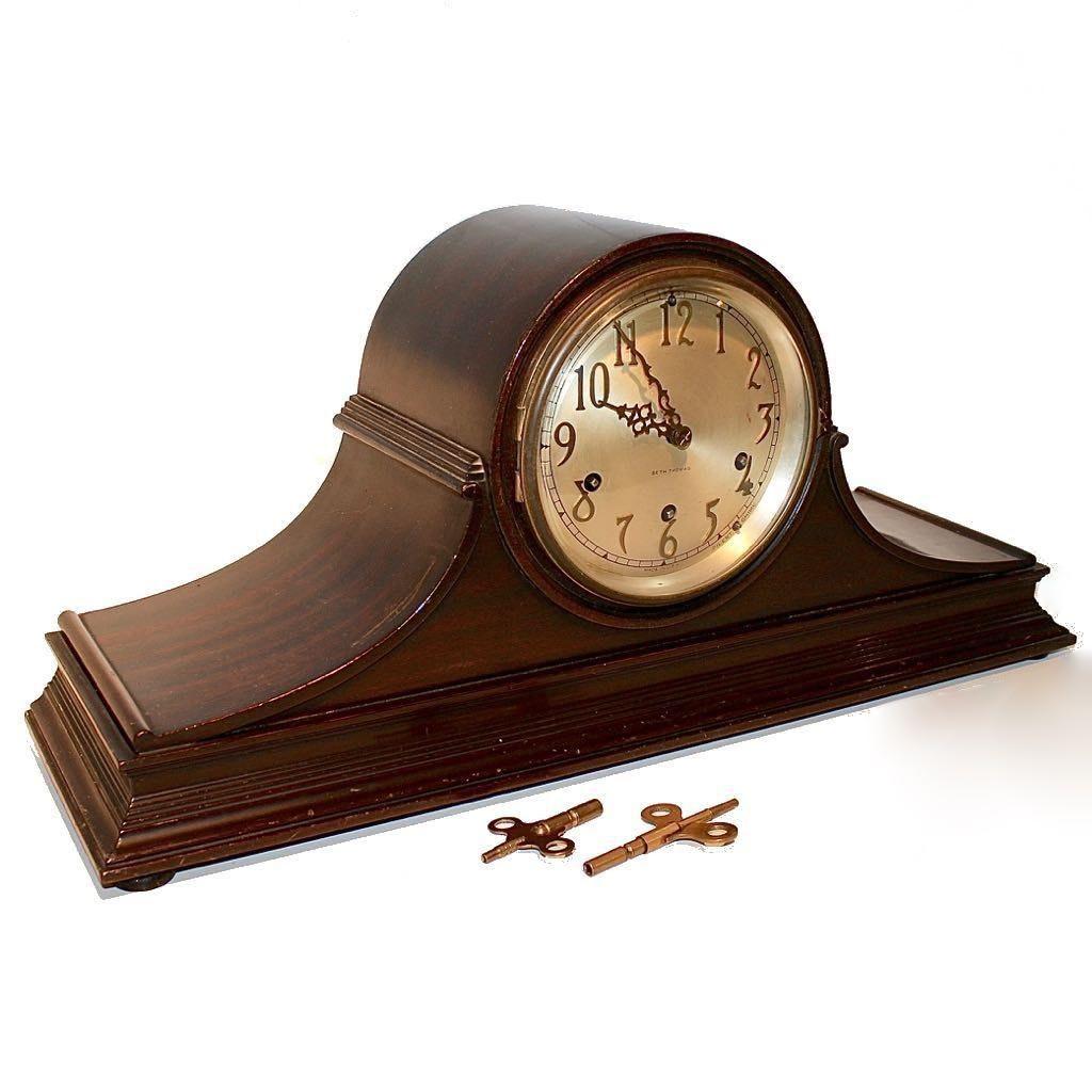 Seth Thomas Wood Mantle Chime Clock
