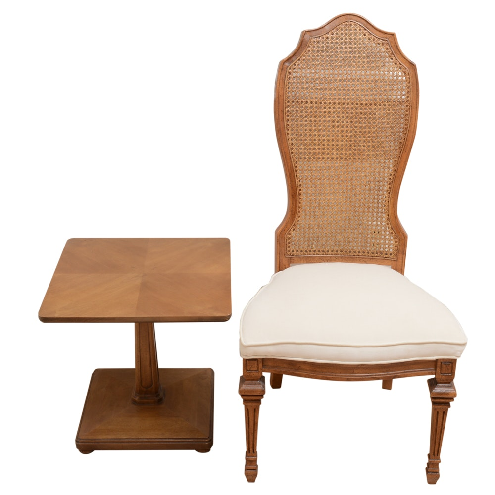 Wooden Chair and Side Table