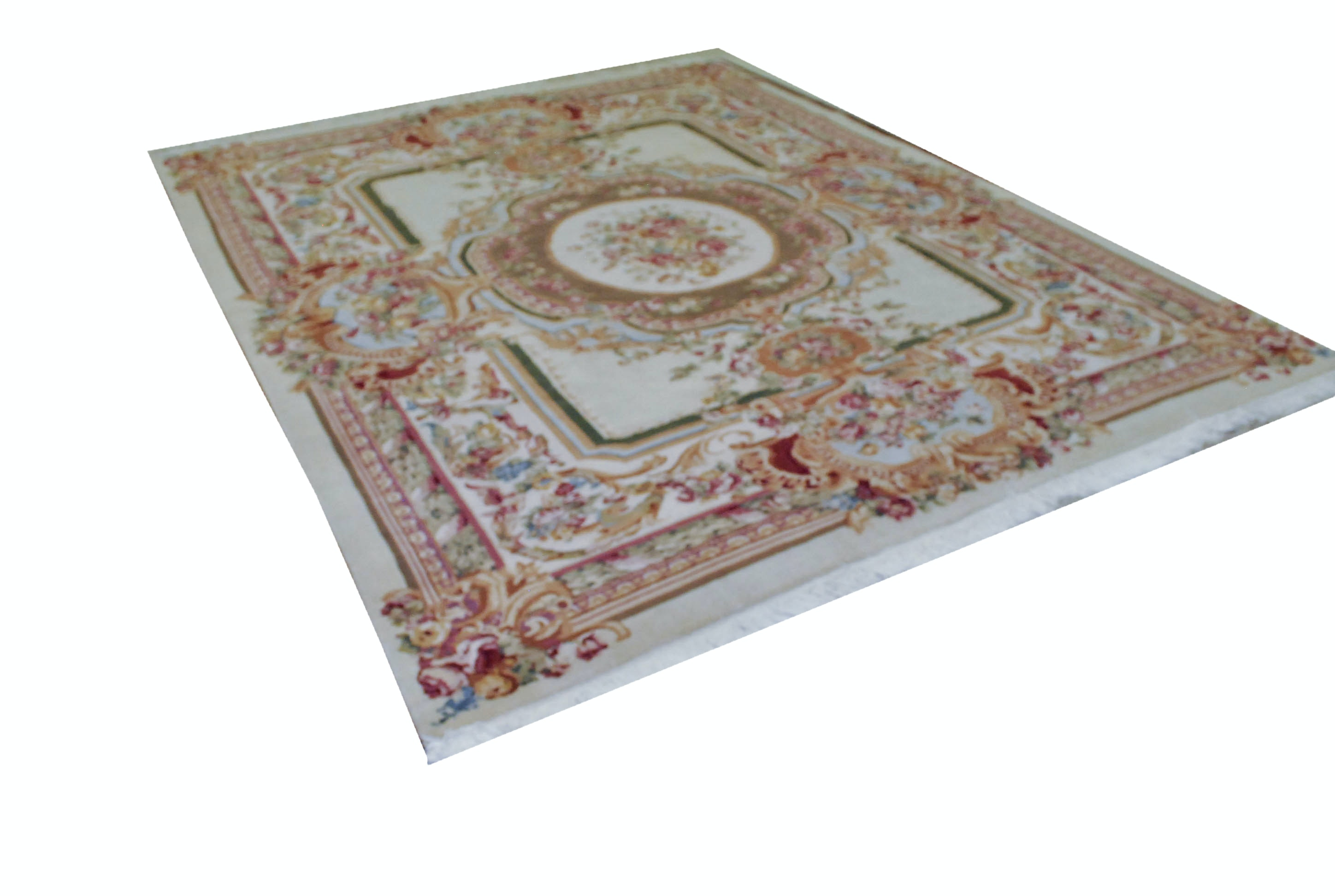 Ornate Handwoven Floral Area Rug