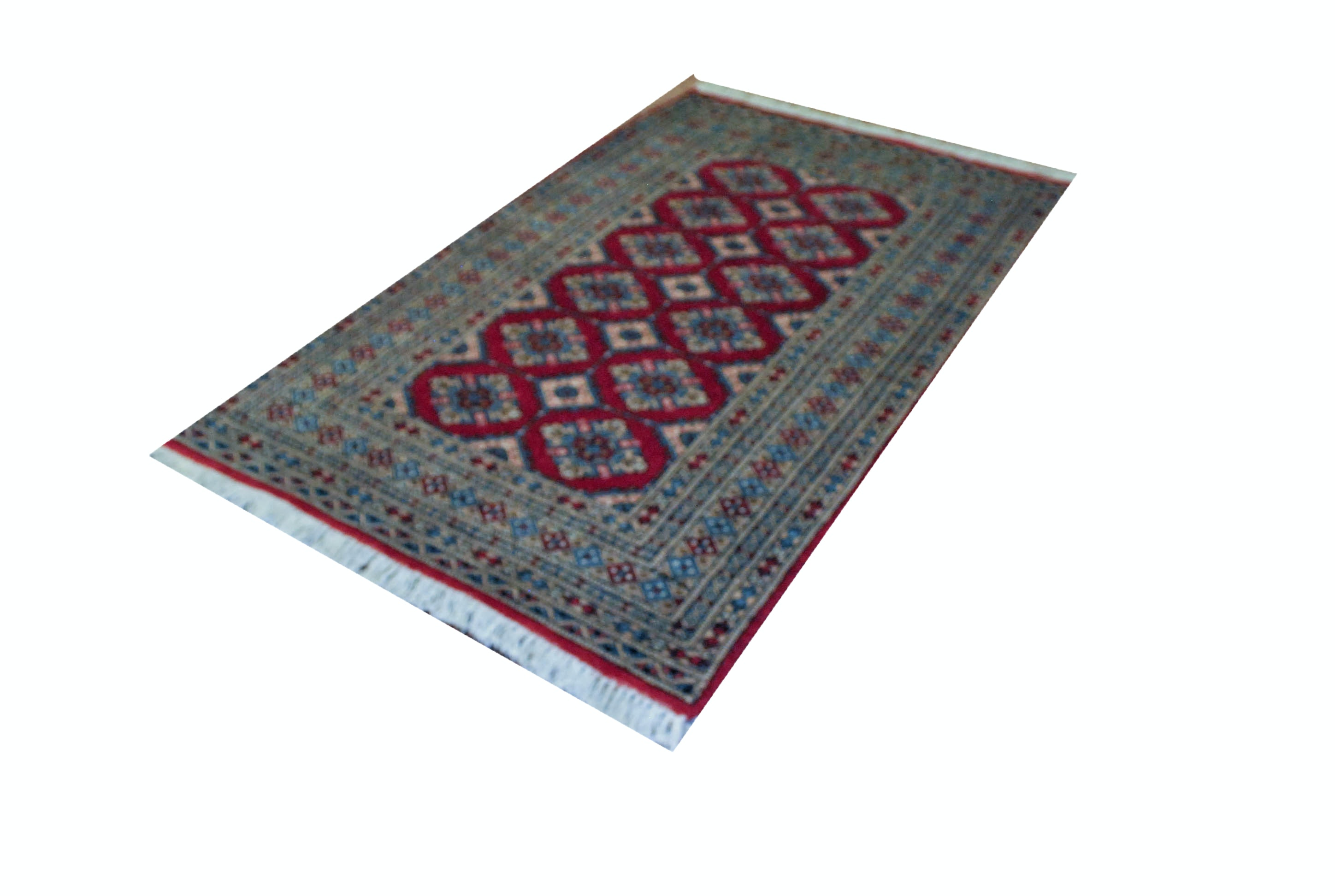 Hand Knotted Persian Style Rug with Compound Border