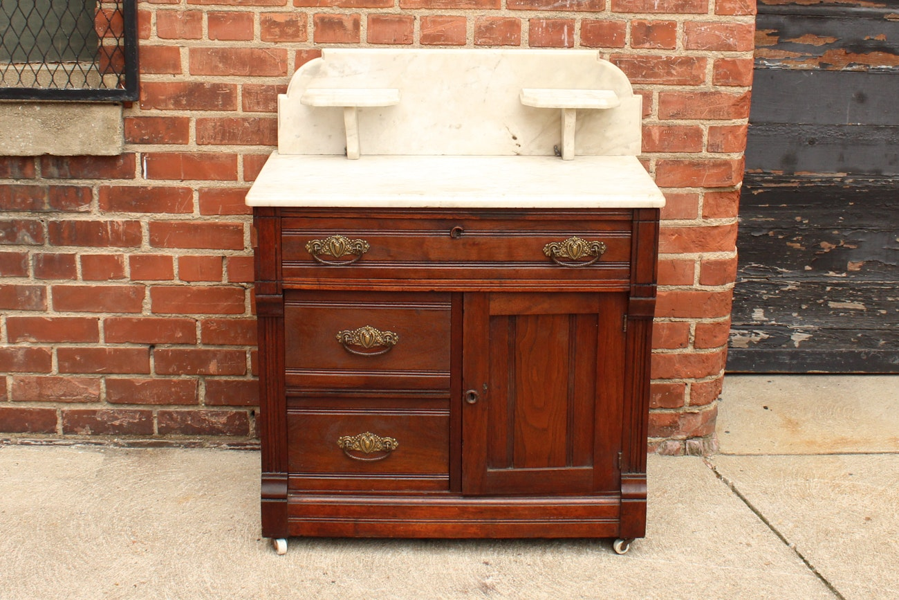 Antique Eastlake Marble Wash Stand