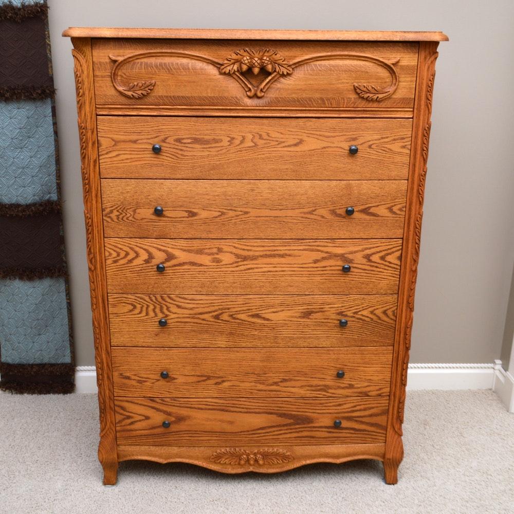 Oak Six Drawer Chest By Oakwood Interiors ...