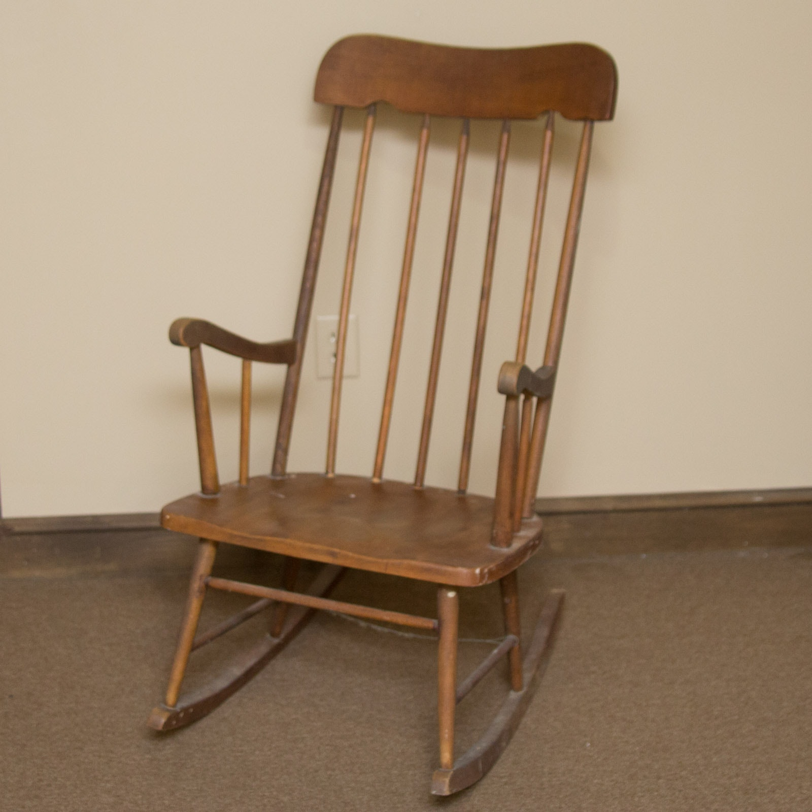 Windsor Style Wooden Rocking Chair