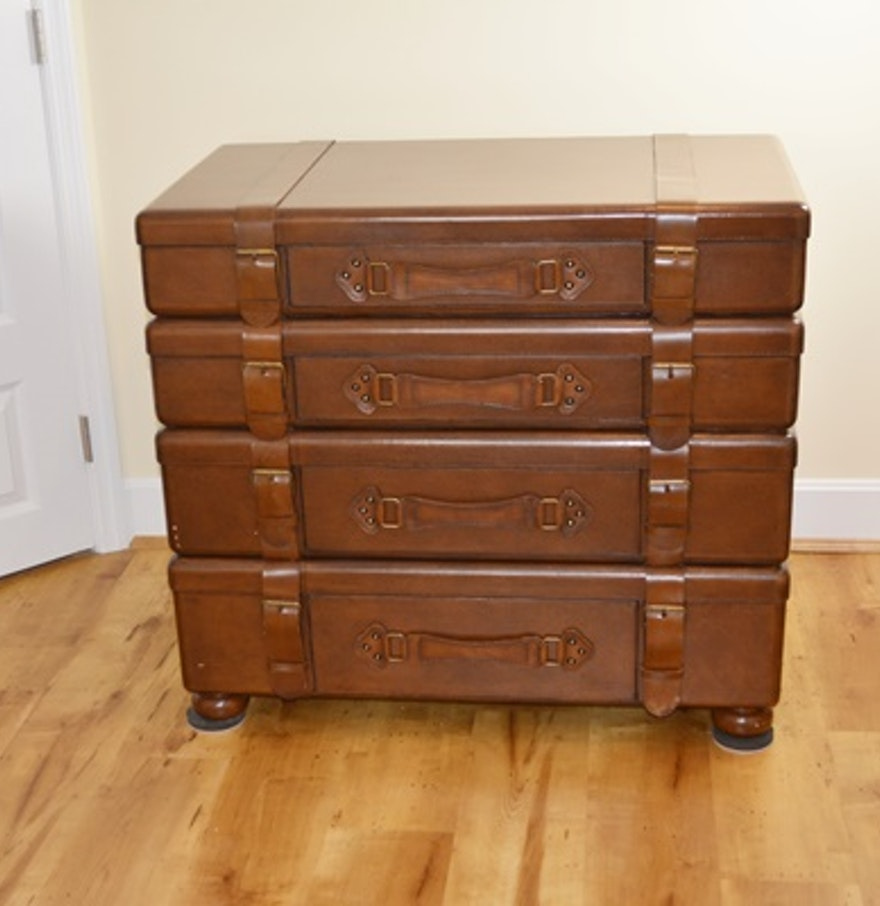 Luggage Style Furniture: Lexington Furniture Stacked Luggage Chest : EBTH