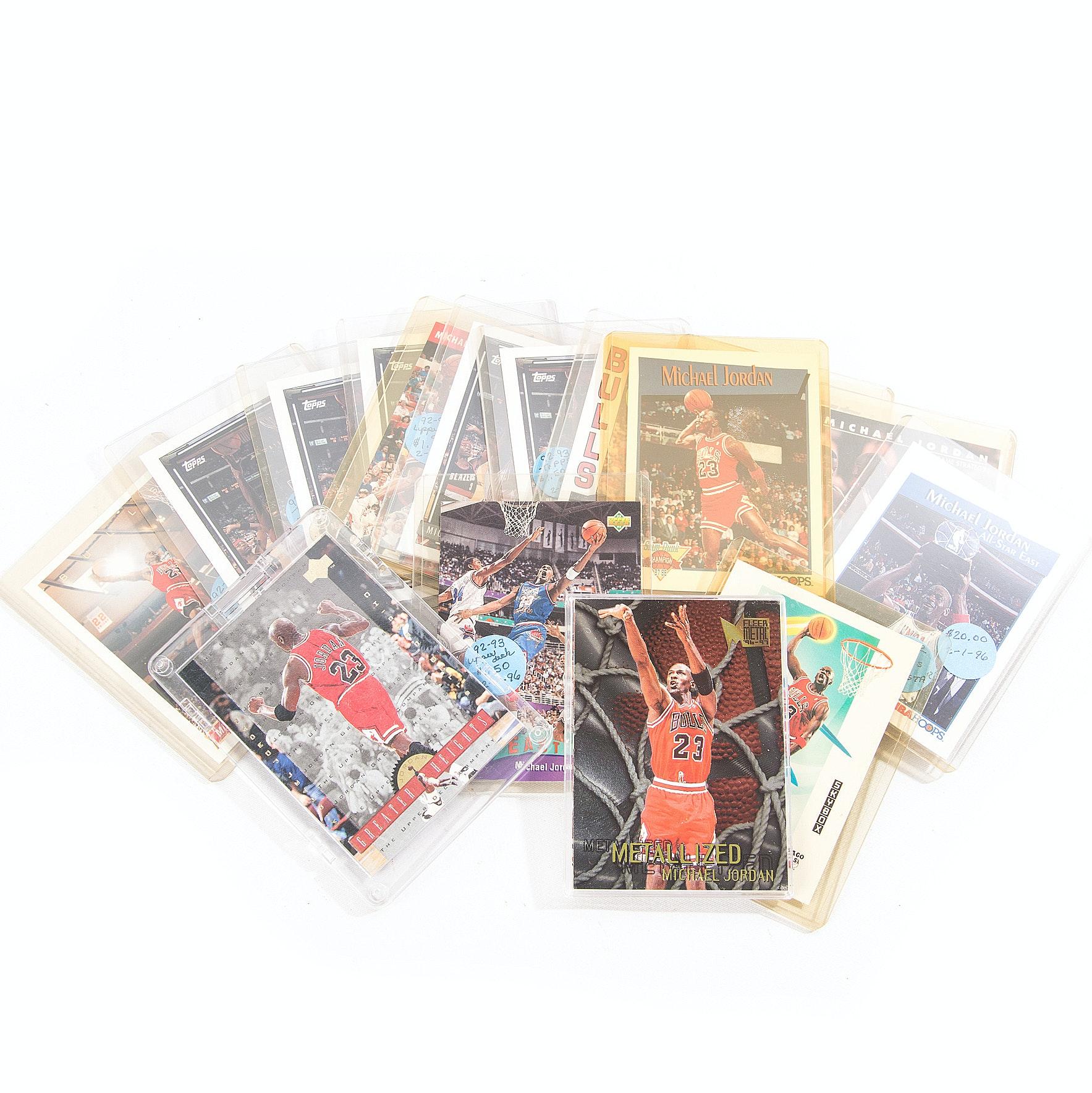 Collection of Michael Jordan Basketball Cards