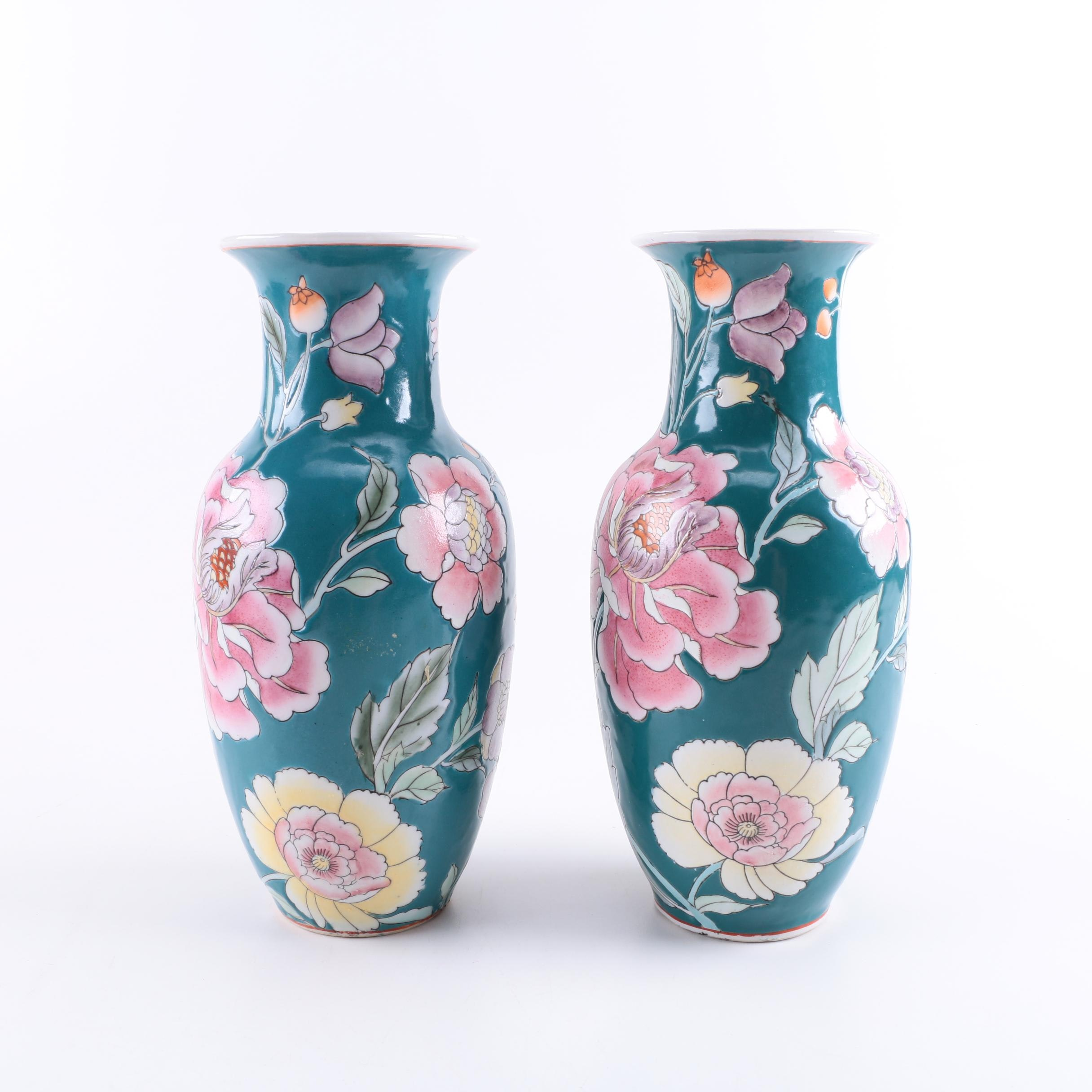 Pair of Chinese Decorative Vases