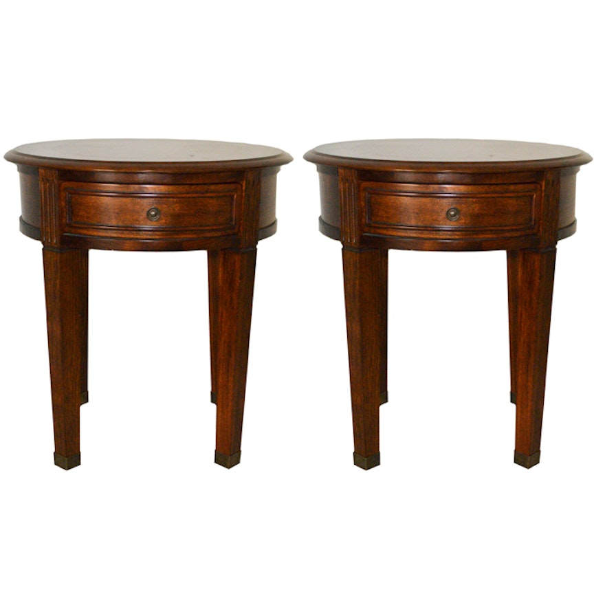 Pair Of Ashley Furniture Glen Eagle Round End Tables