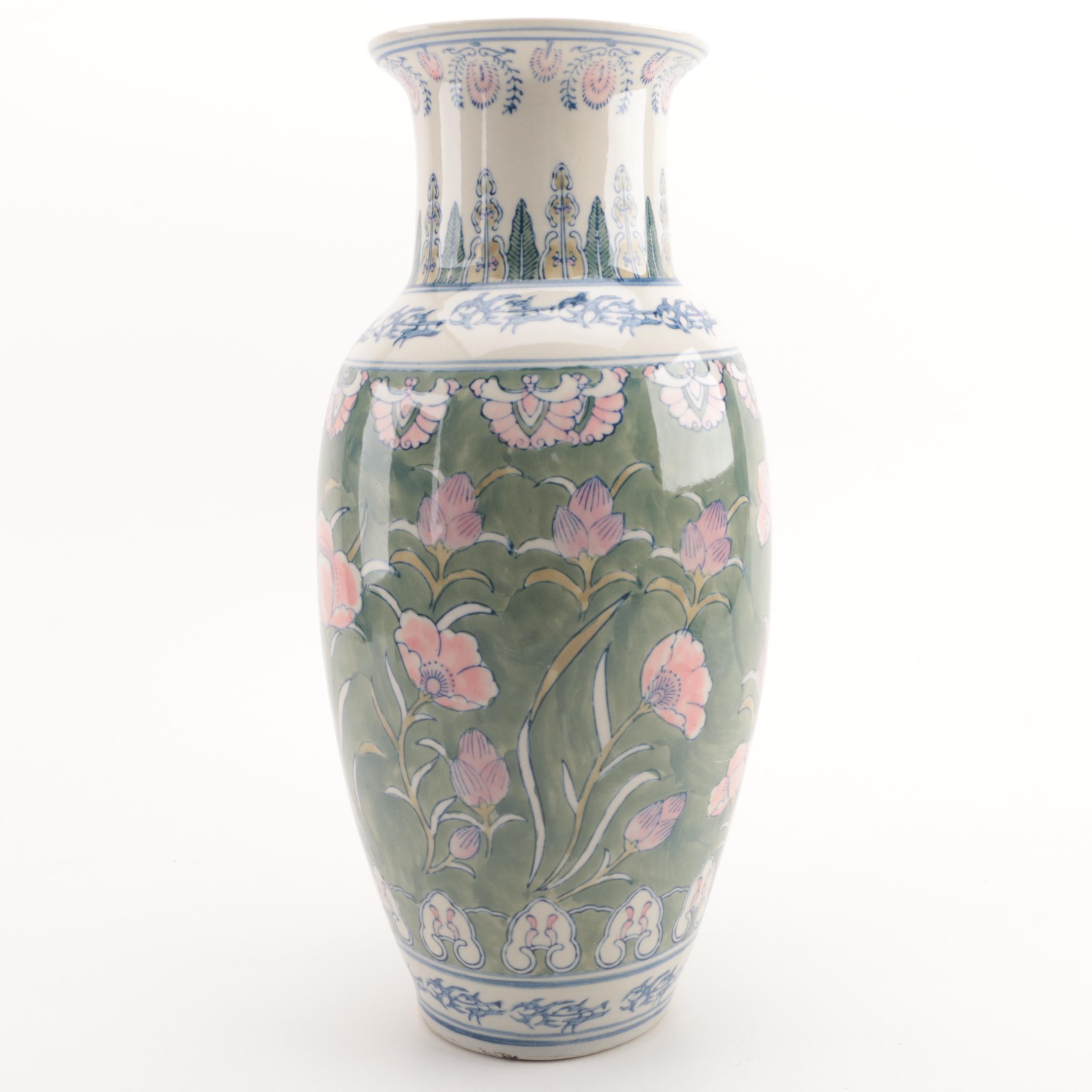 Chinese Style Baluster Vase