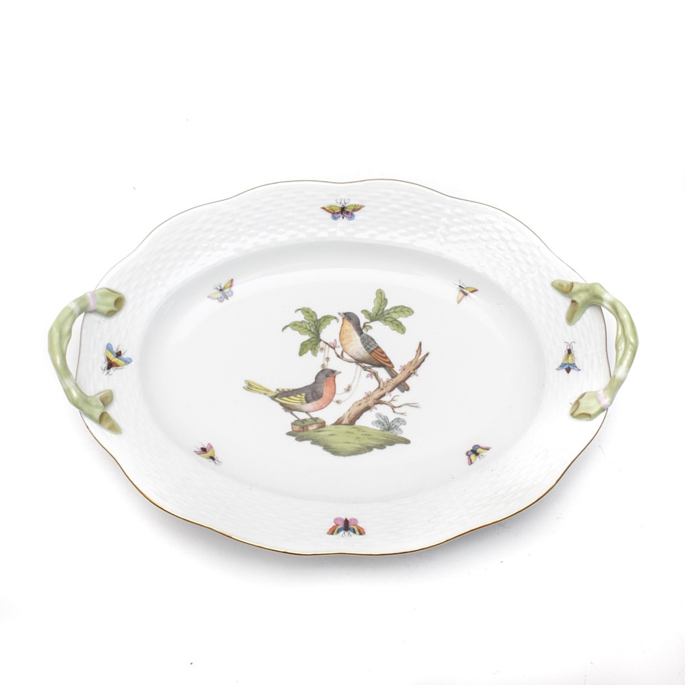 Herend Hand-Painted Serving Platter