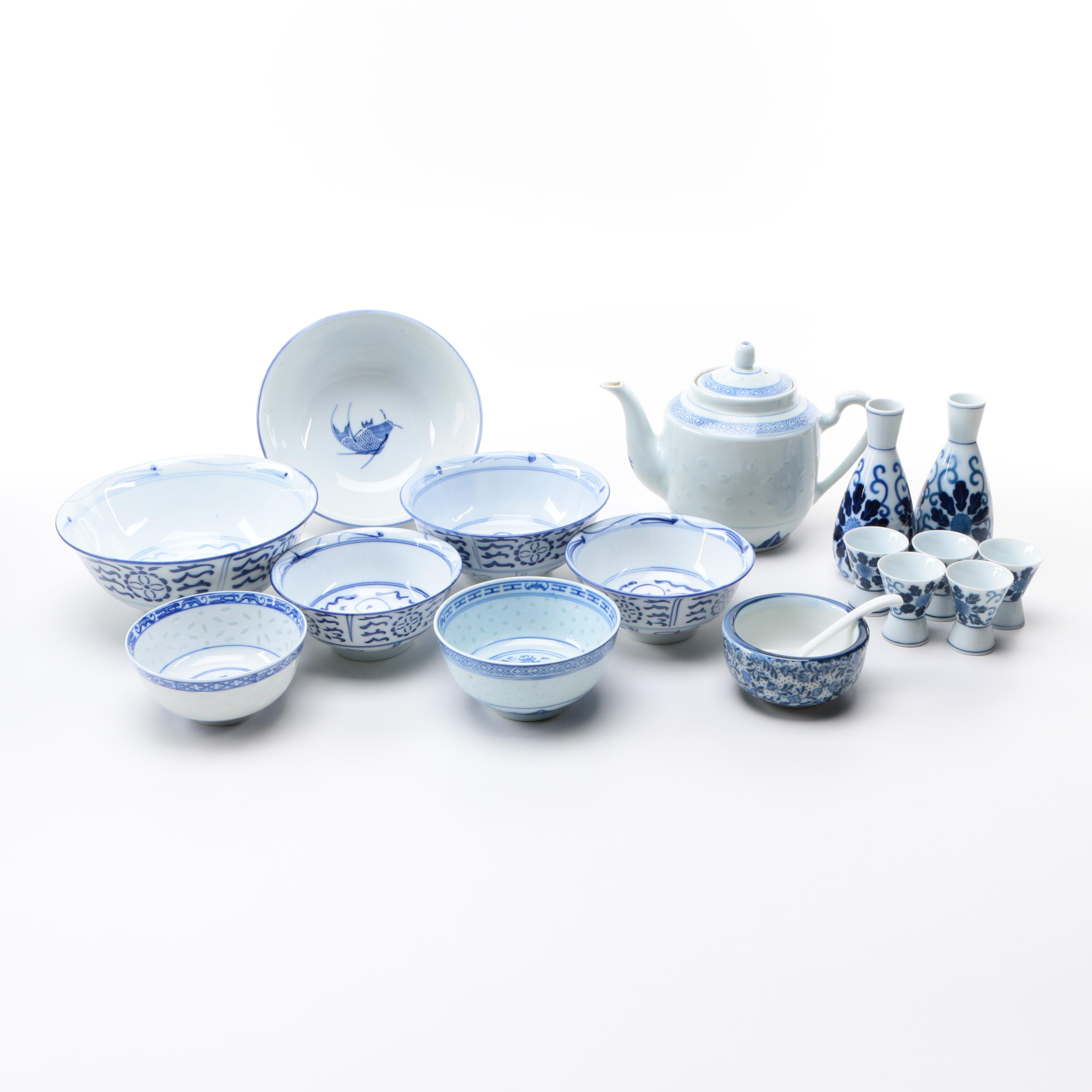 Chinese Blue and White Porcelain Tableware