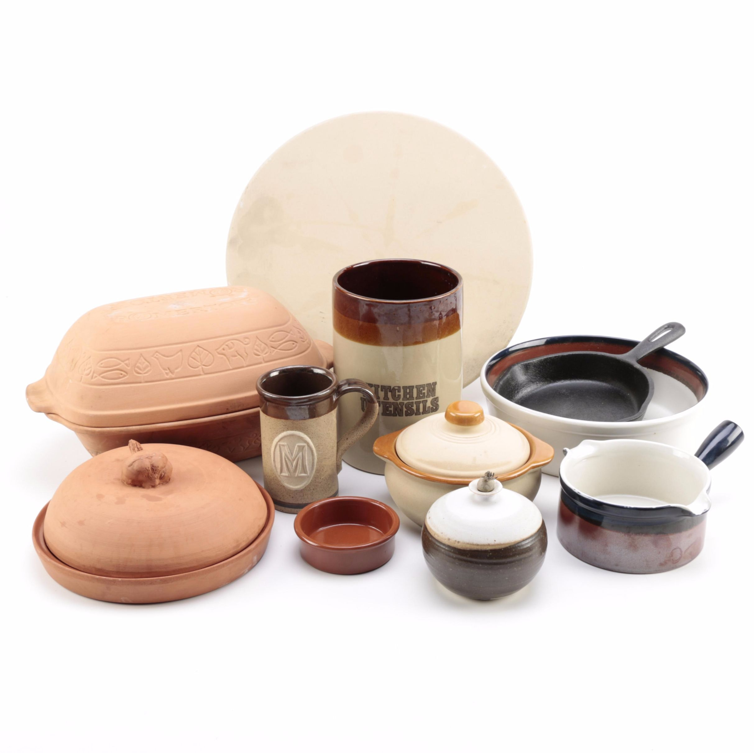 Assorted Kitchenware Including Earthenware