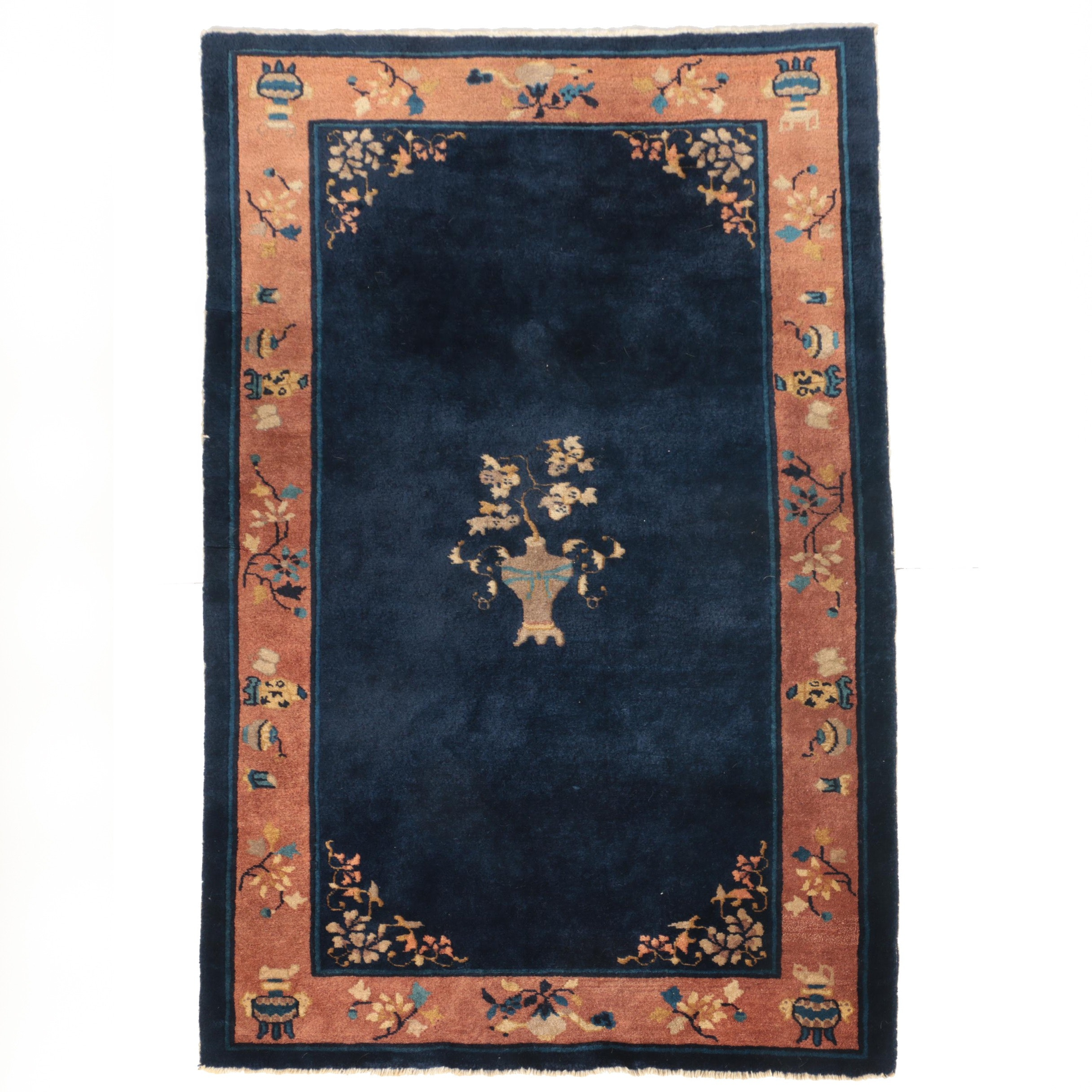 Hand-Knotted Chinese Area Rug