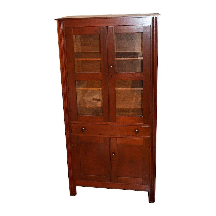 Antique Cherry Pie Safe With Jelly Cupboard ... - Antique Cherry Pie Safe With Jelly Cupboard : EBTH