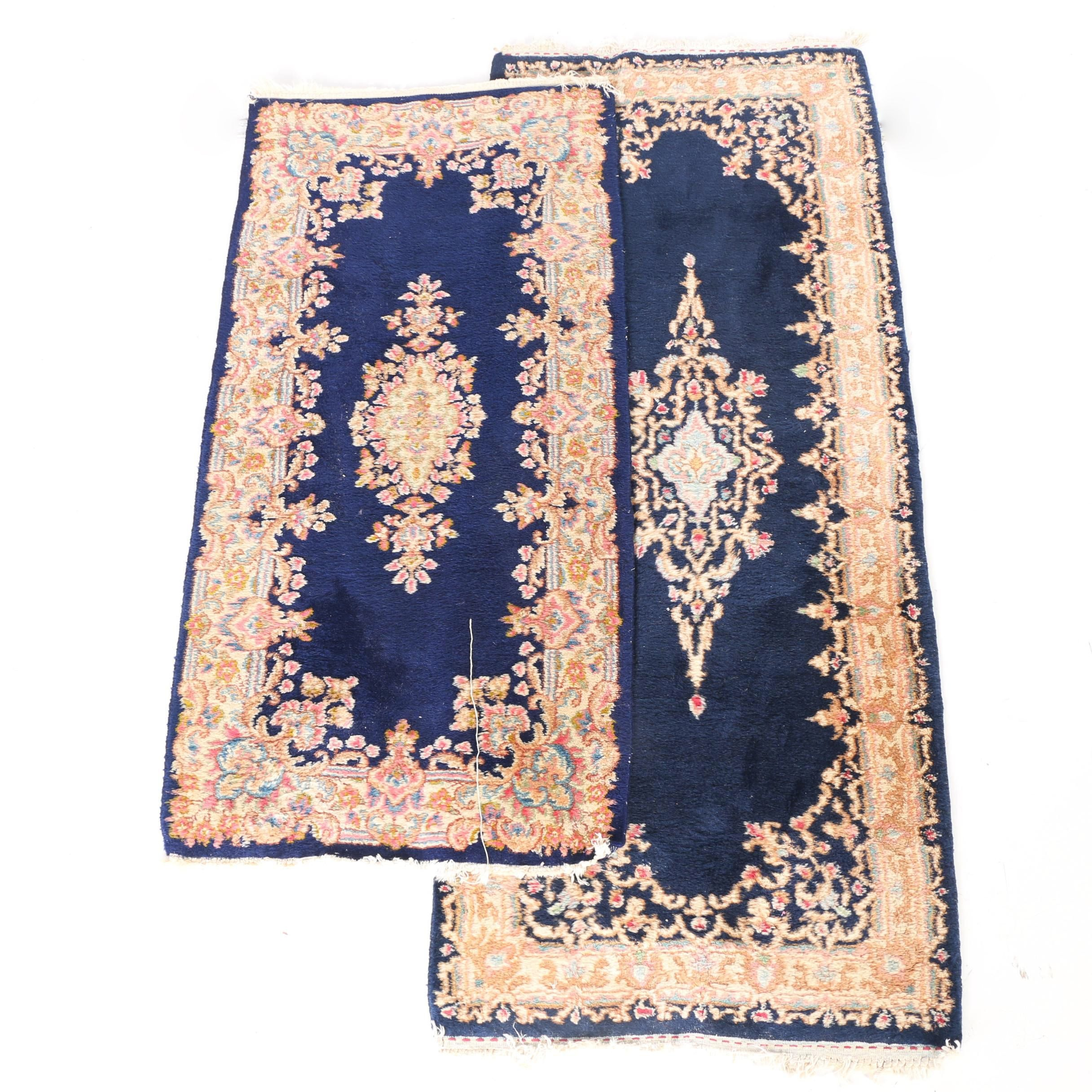 Hand-Knotted Kerman Accent Rugs