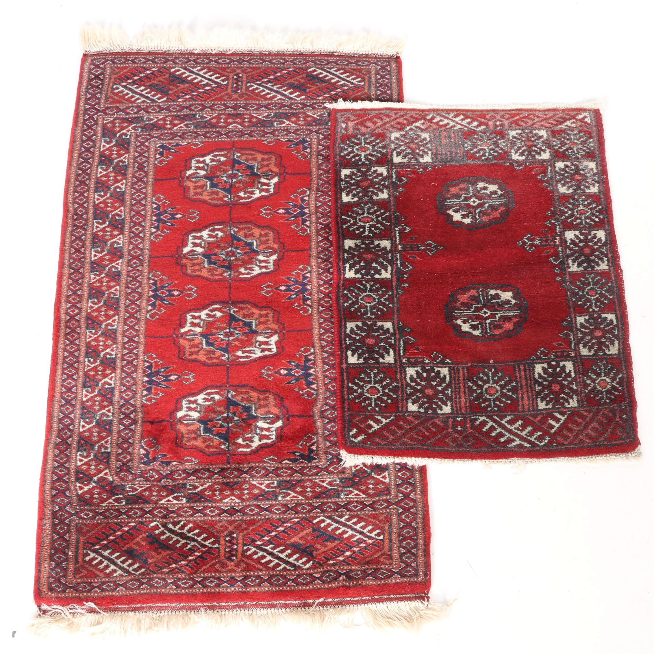 Hand-Knotted Bokhara Accent Rugs