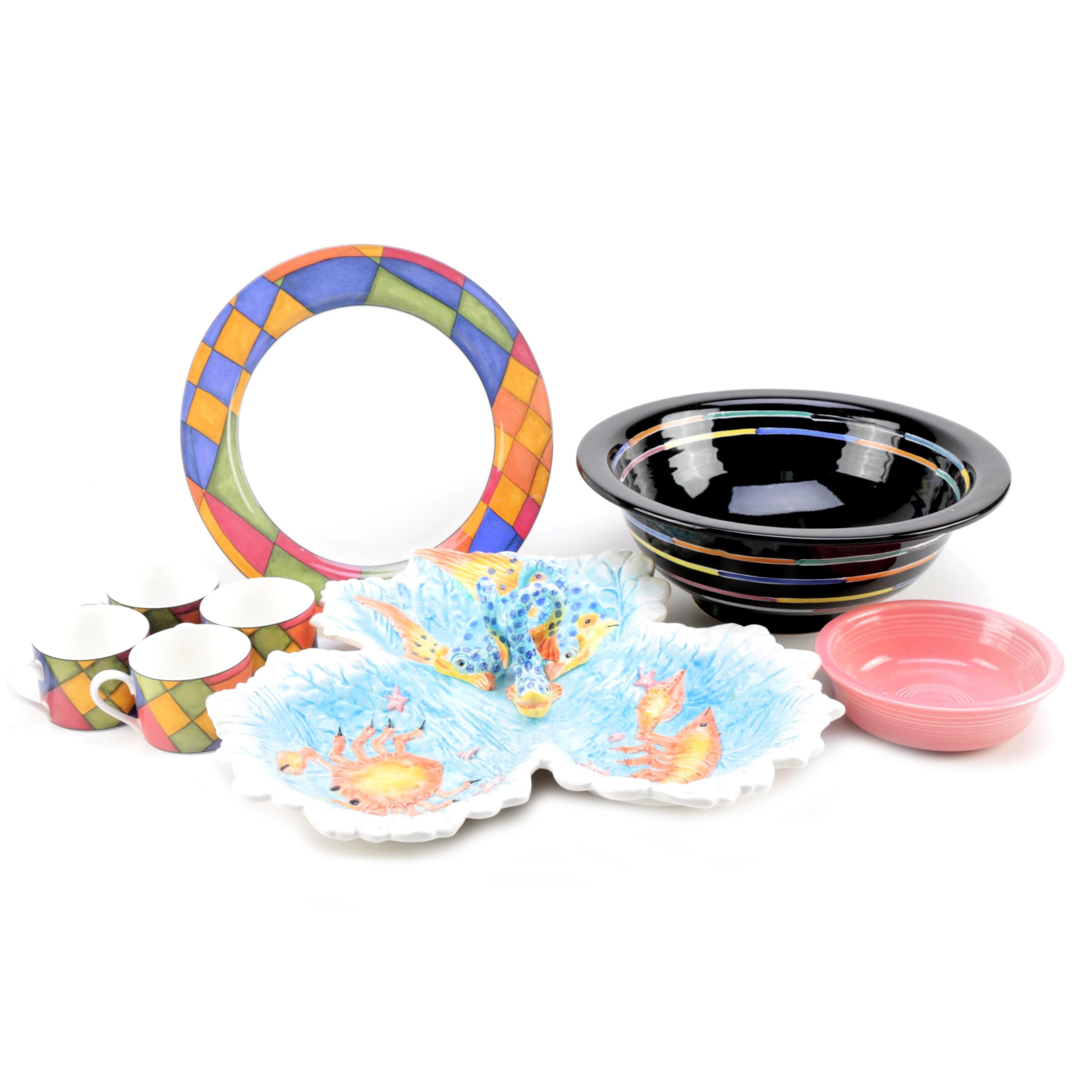 Ceramic Dishes Featuring Deruta and Fiesta