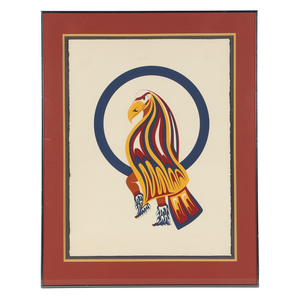 """Don McLeay Limited Edition Serigraph on Paper """"Eagle Dancer"""""""