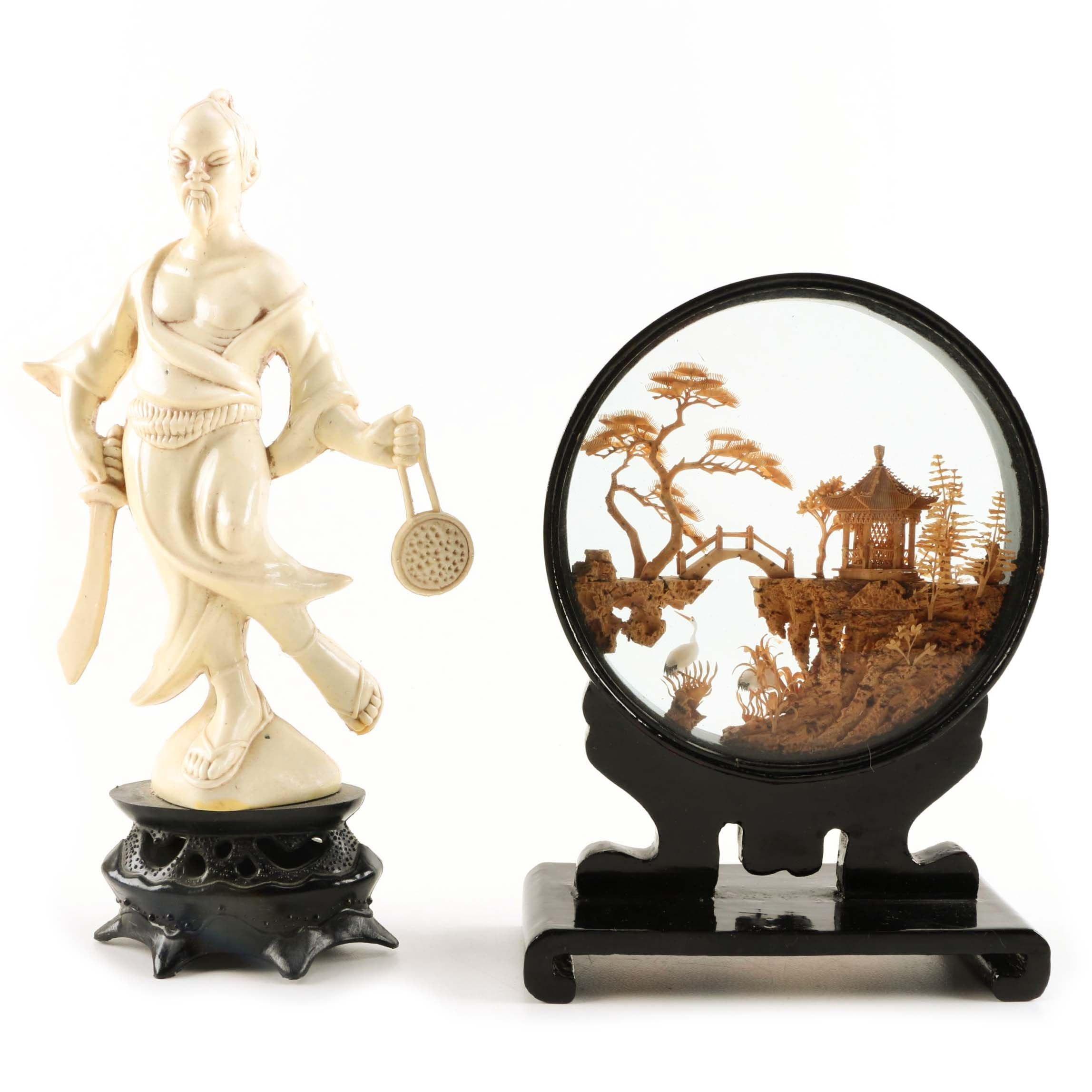 Chinese Diorama and Figurine