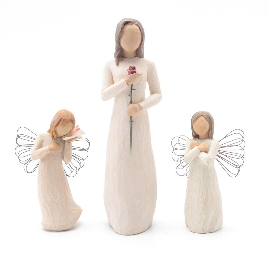 Wooden Angels Figurines