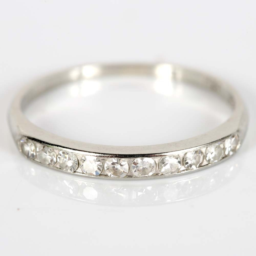 18K White Gold Channel Diamond Band