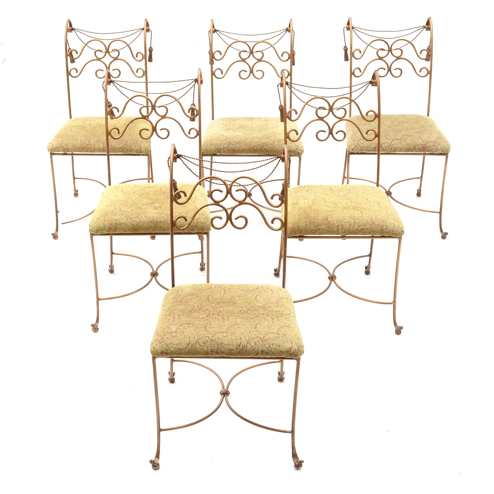Hollywood Regency Style Dining Chairs