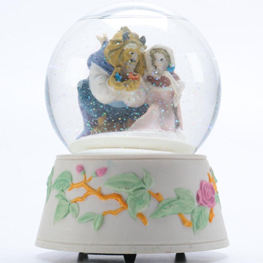 Beauty And The Beast Schmid Musical Snow Globe