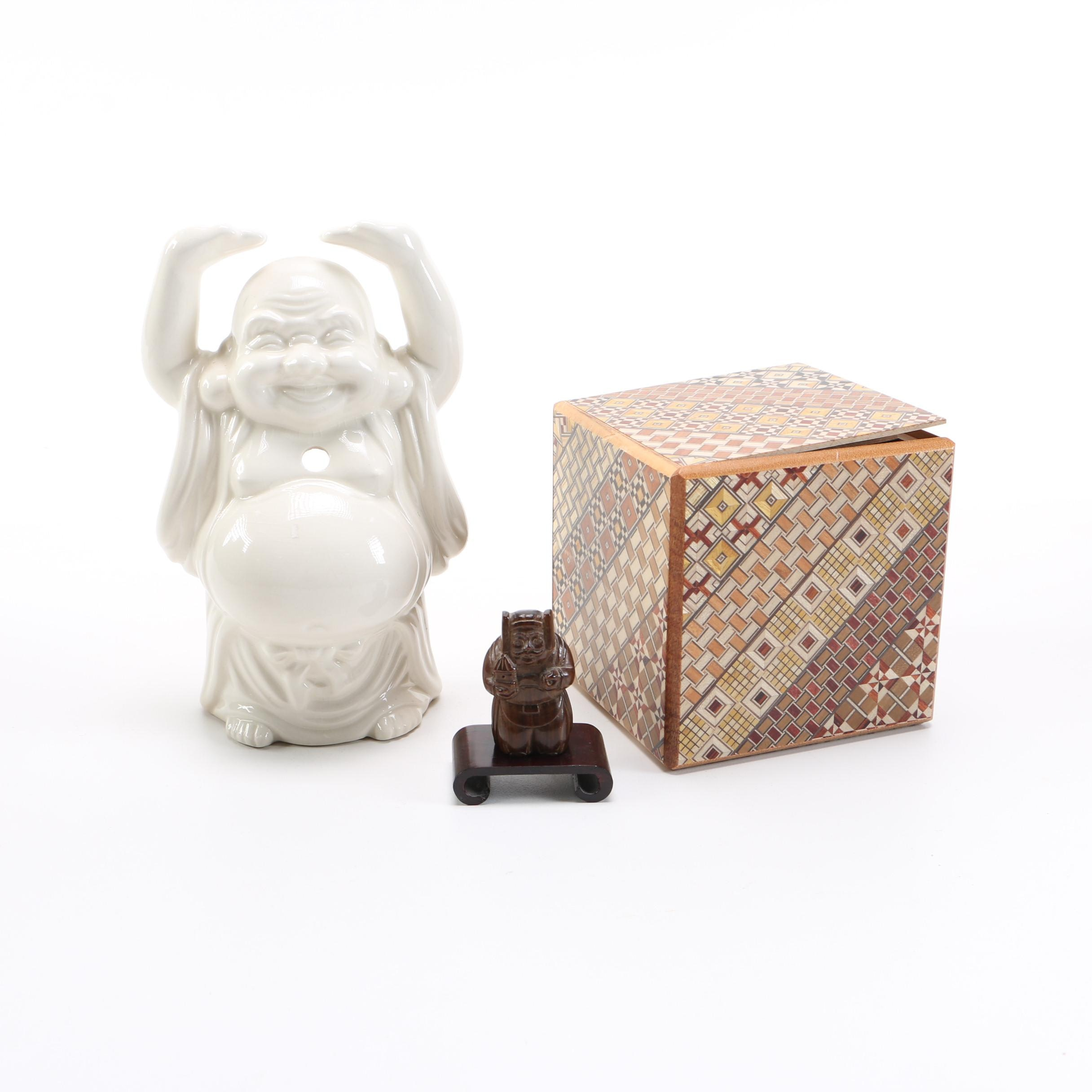 Asian Figurines And Box