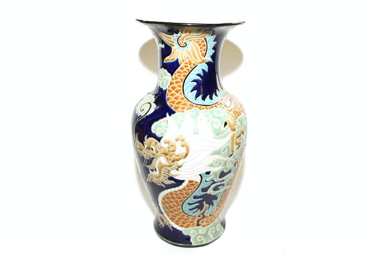 Large Chinese Dragon Vase