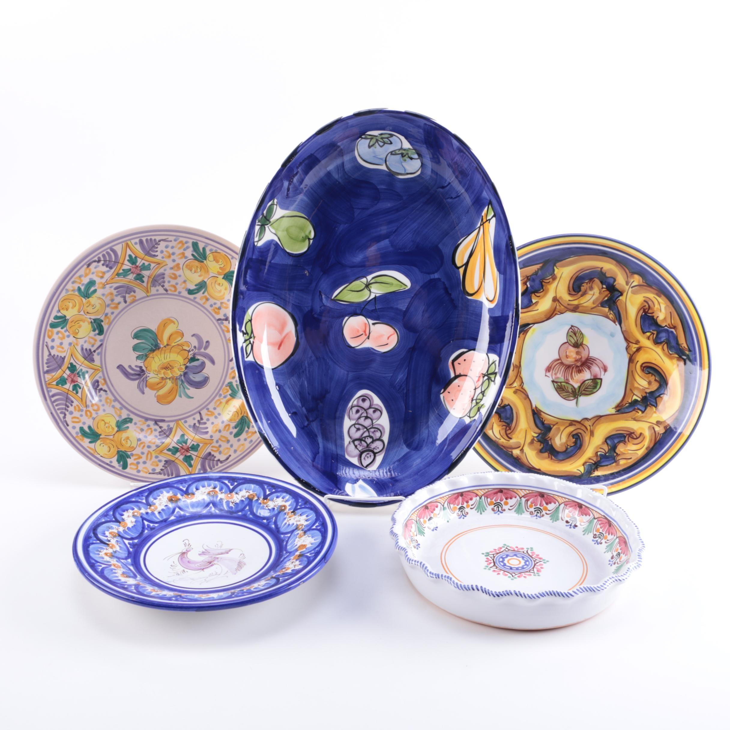 Hand-Painted Ceramic Decorative Dishes