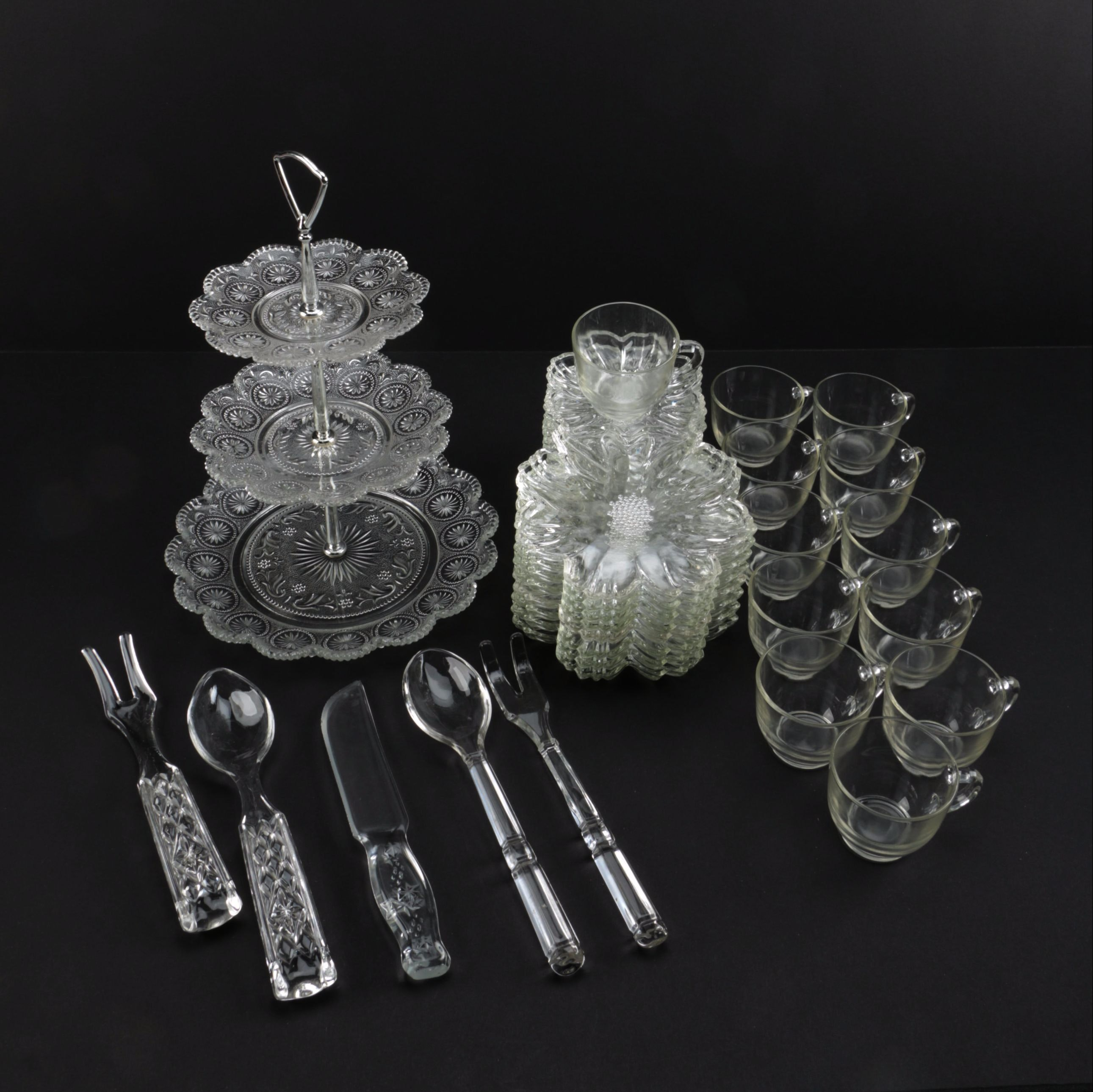 Assorted Glass Tableware