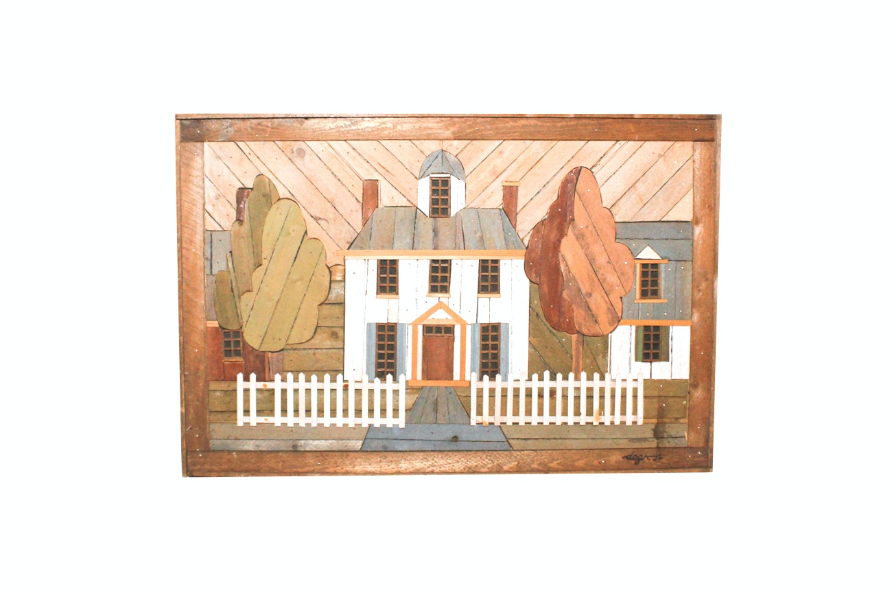 Theodore Degroot Lath Folk Art Wooden House