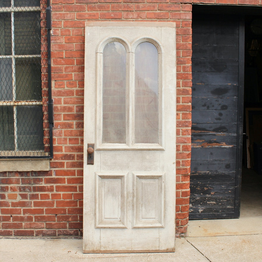 Antique Door With Glass Panes : EBTH