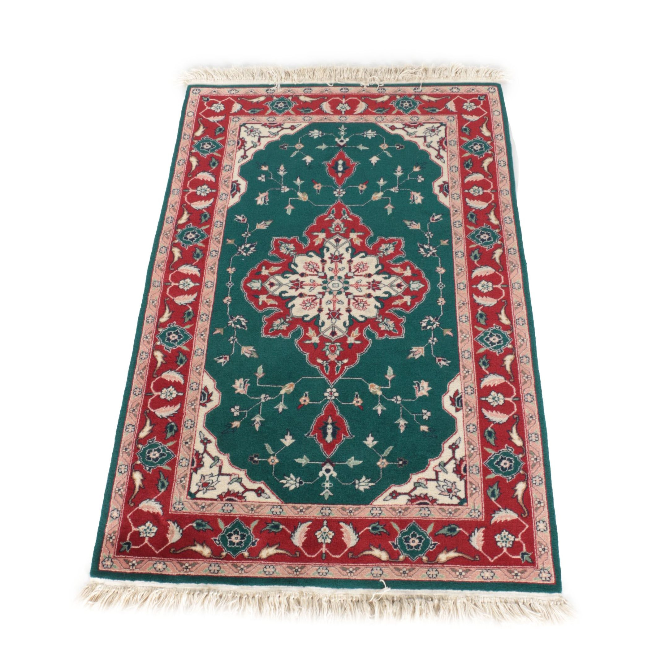 Hand-Knotted Heriz-Style Area Rug