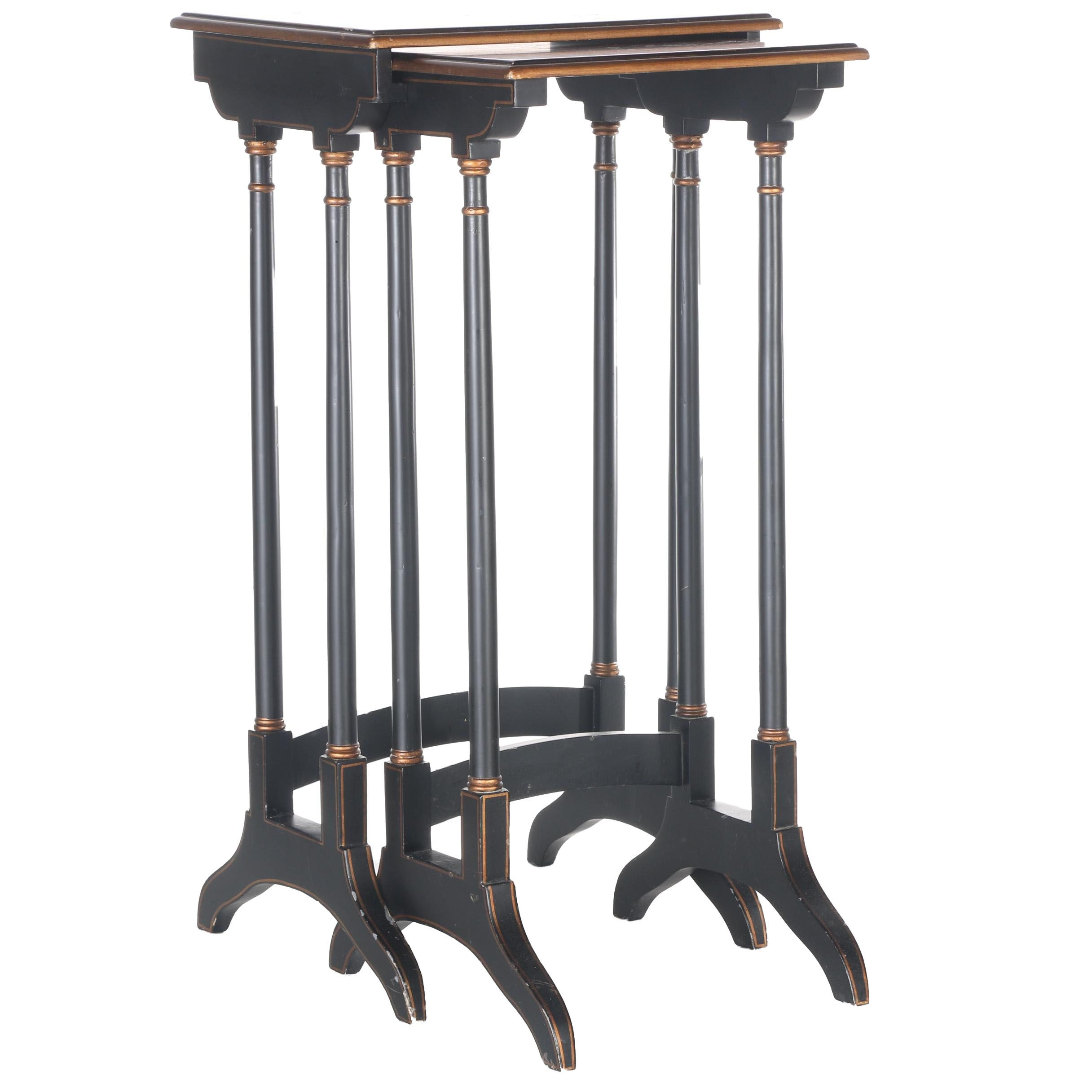 Pair of Wooden Nesting Tables
