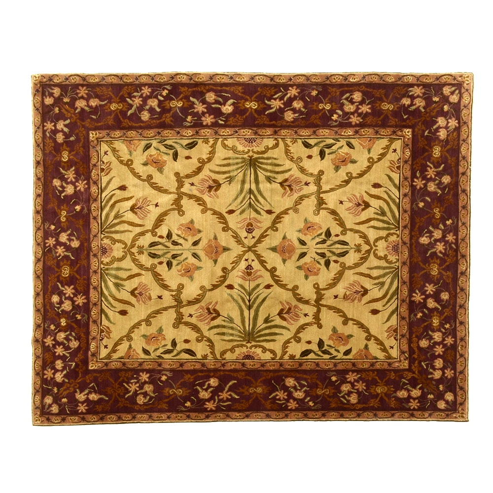 """Tufenkain Hand-Knotted """"Shah Jahan"""" Wool Area Rug"""