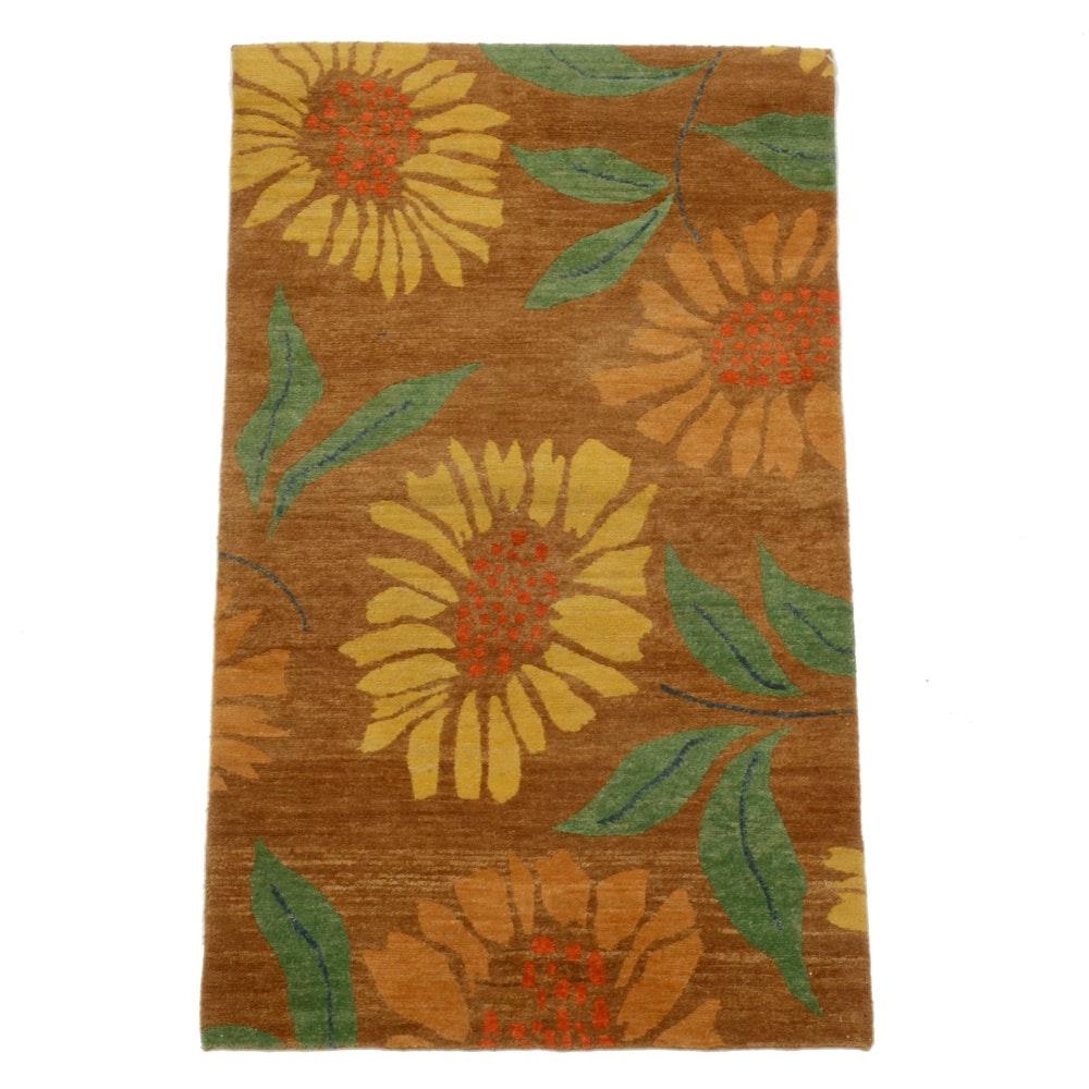 "Tufenkian Nepali Hand-Knotted ""Flower Power Cornstalk"" Wool Rug"