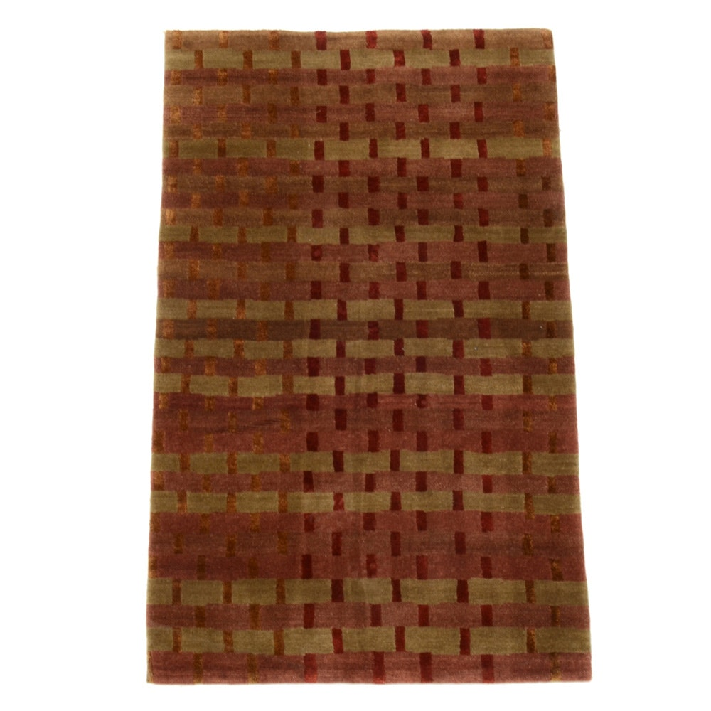 Tufenkian Hand-Knotted Contemporary Wool with Silk Area Rug