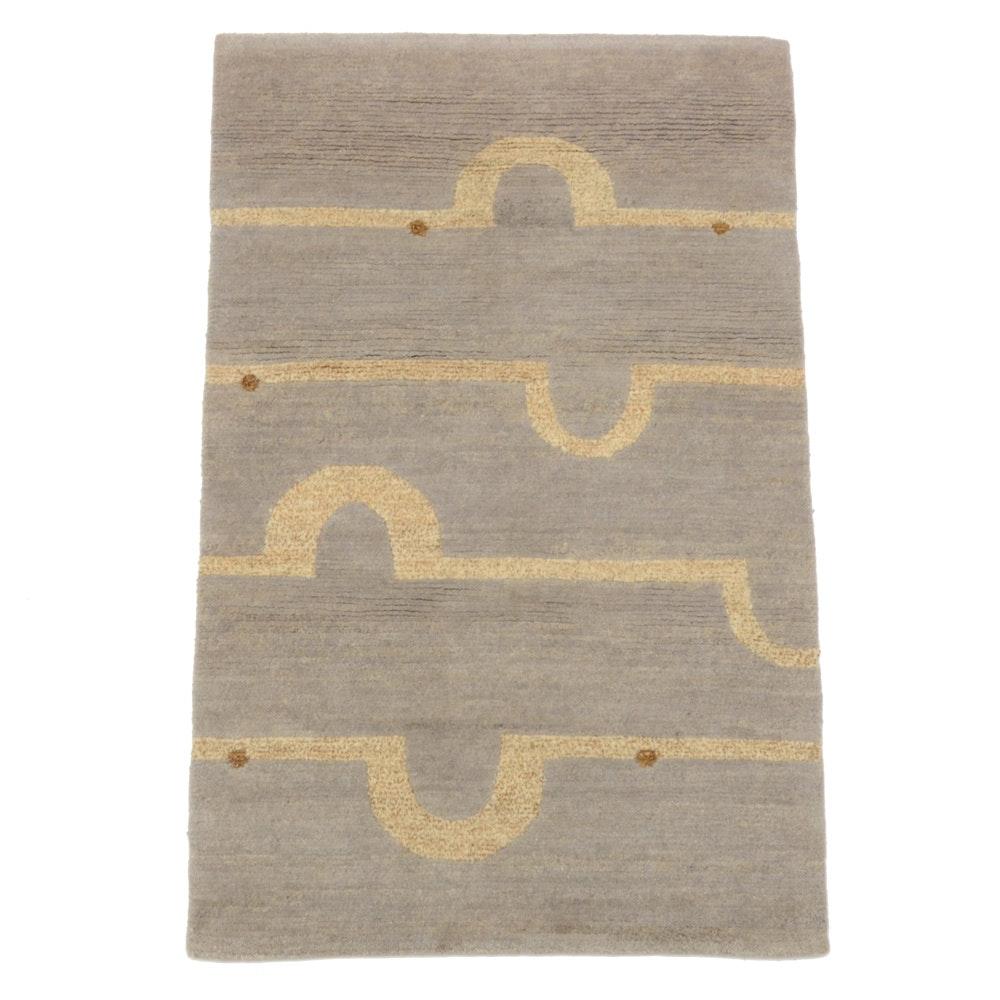 Laura Kirar Tufenkian Nepali Hand-Knotted Contemporary Wool Rug